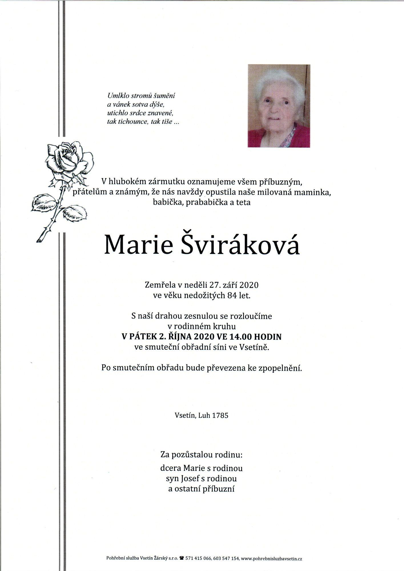 Marie Šviráková