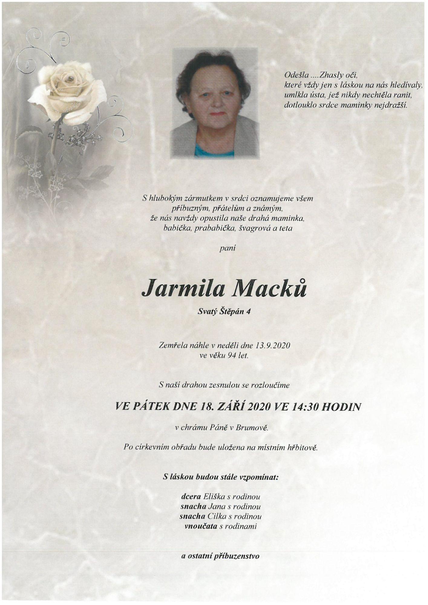 Jarmila Macků