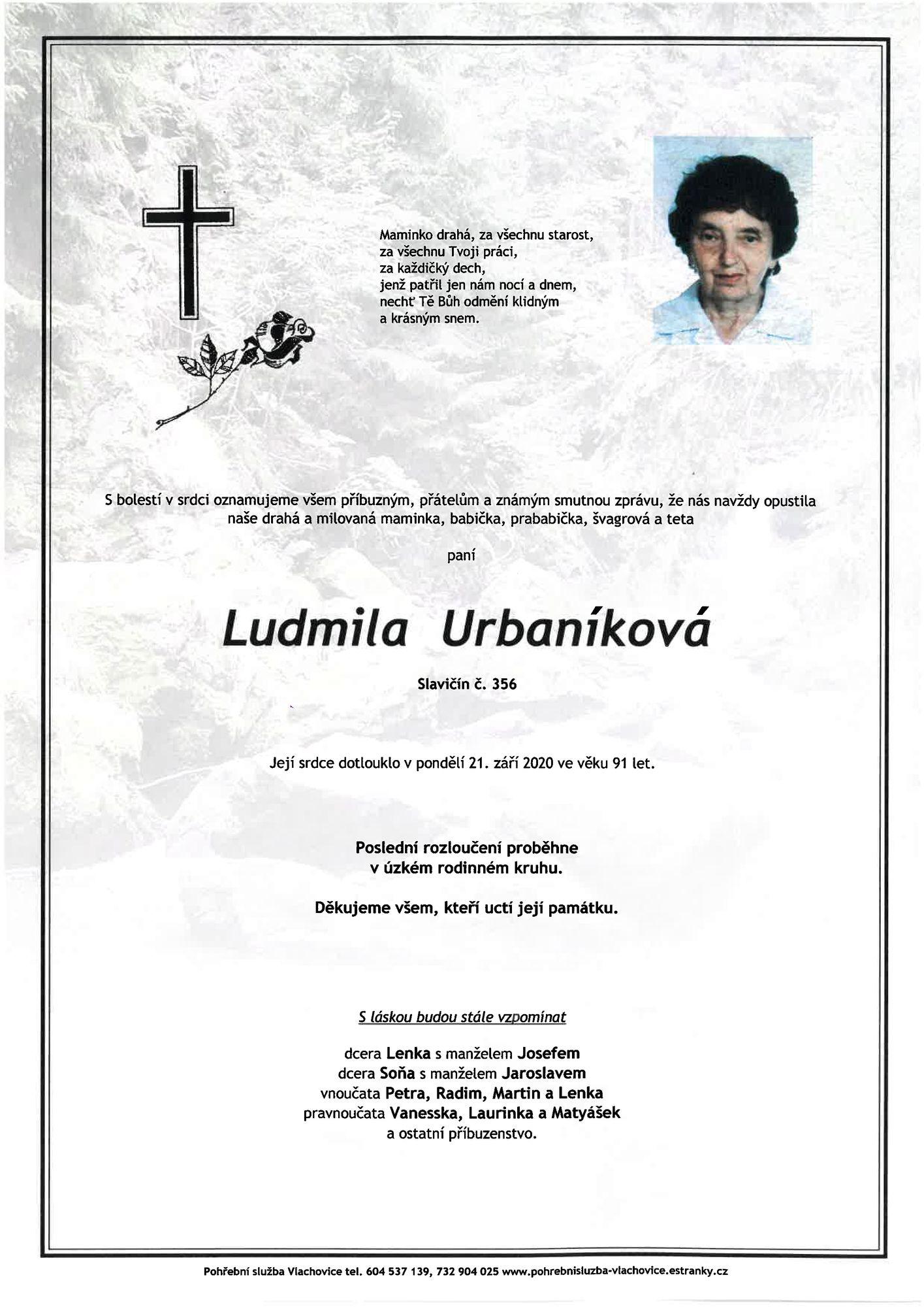 Ludmila Urbaníková