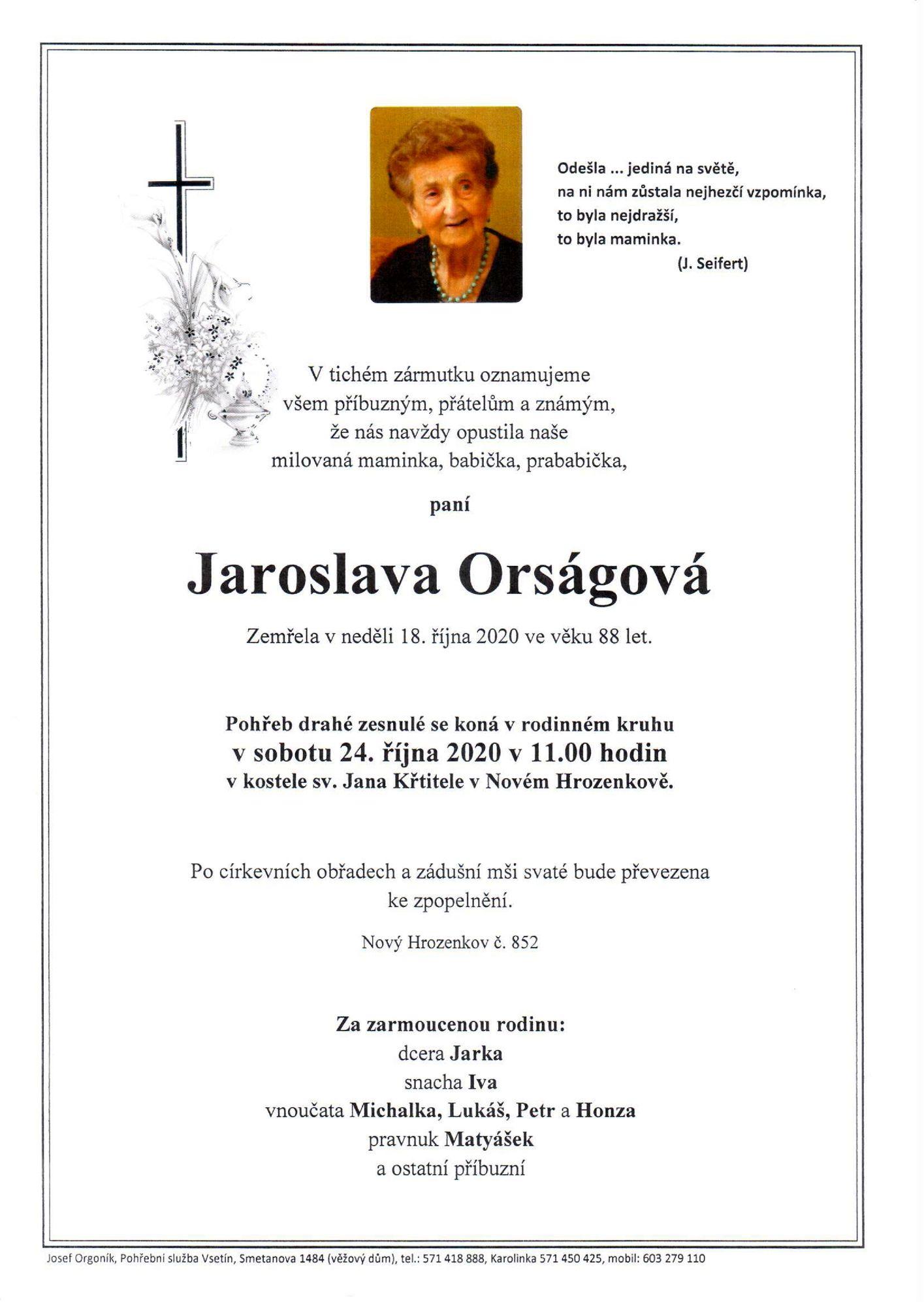 Jaroslava Orságová