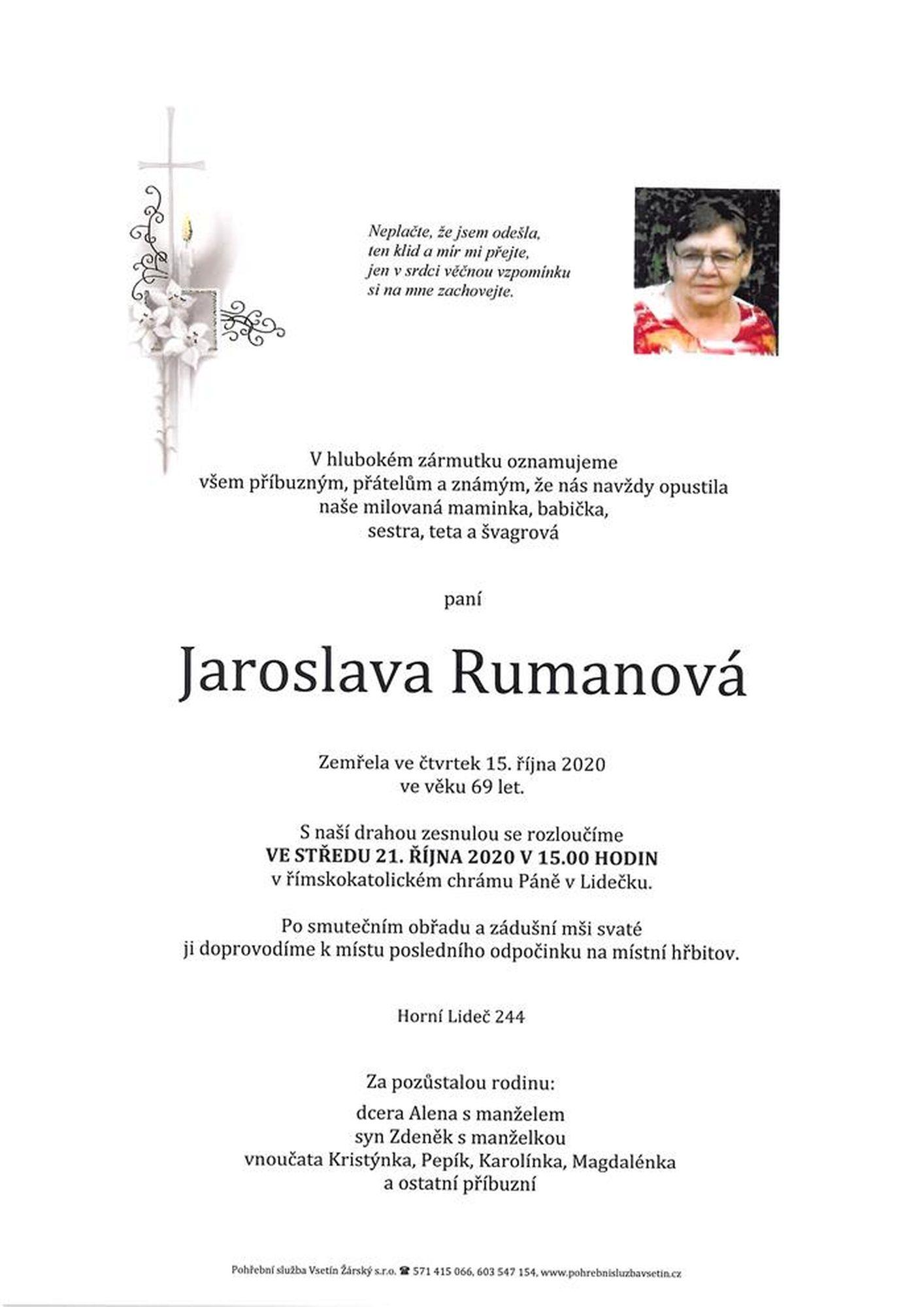 Jaroslava Rumanová