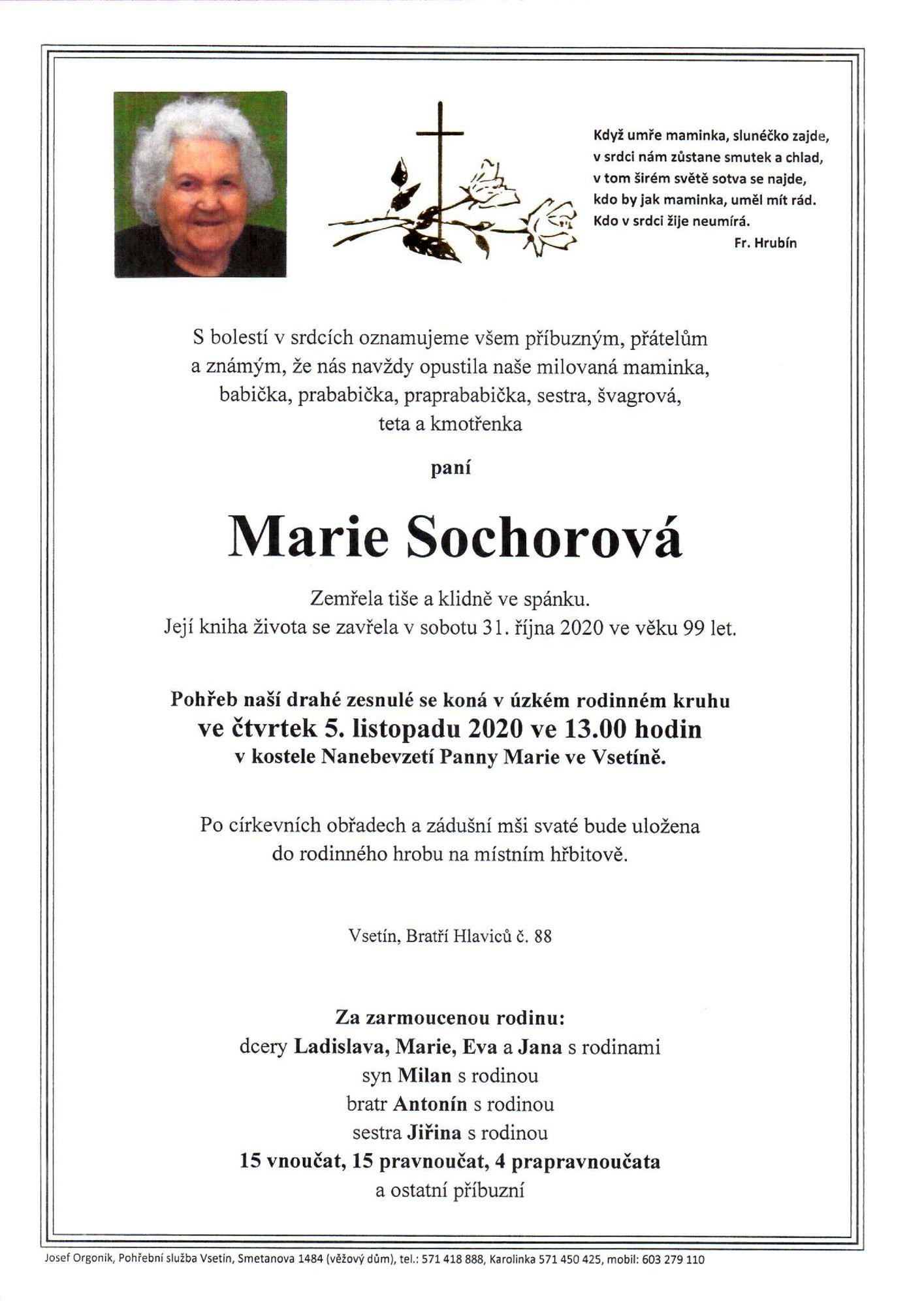 Marie Sochorová
