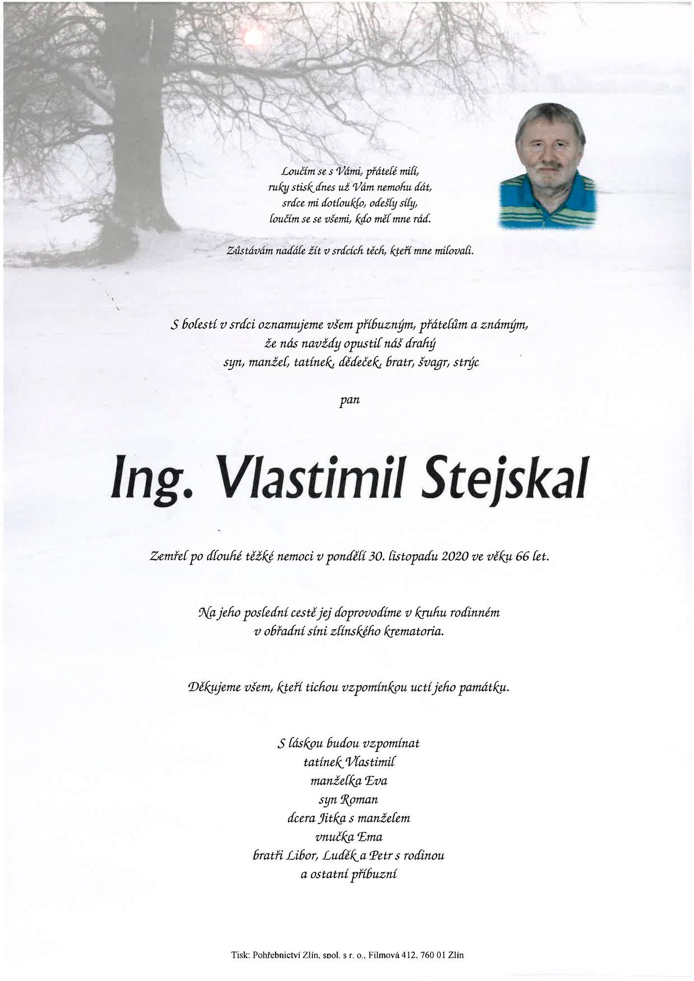 Ing. Vlastimil Stejskal