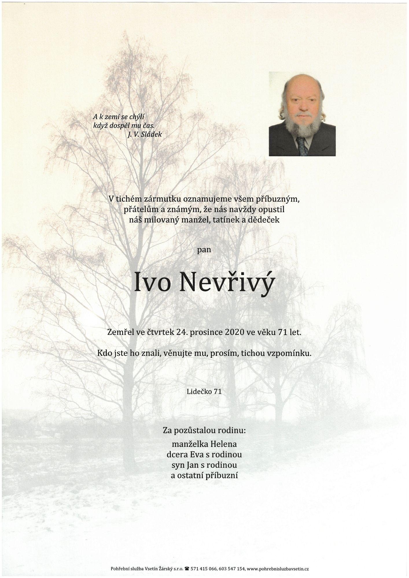 Ivo Nevřivý