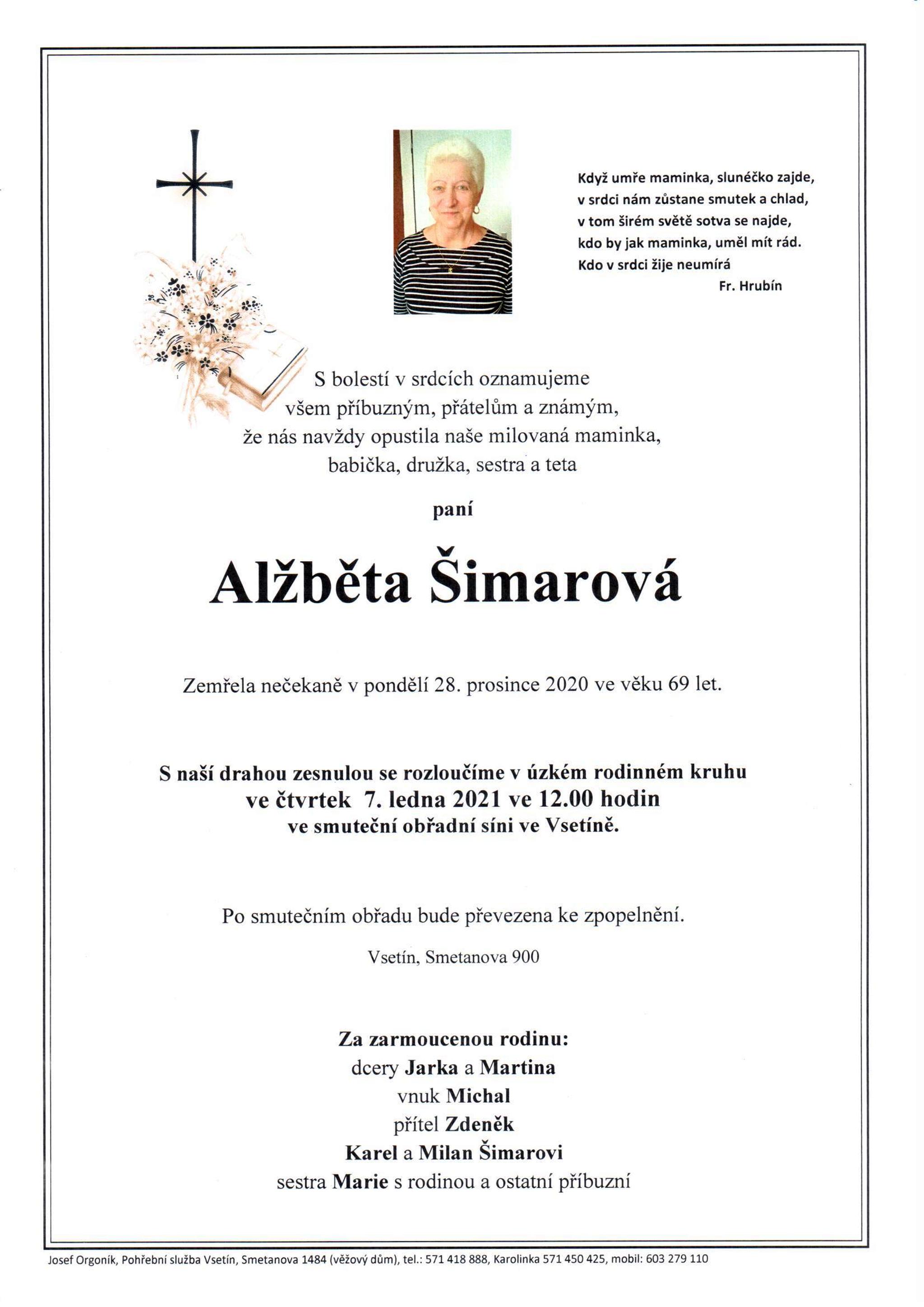 Alžběta Šimarová