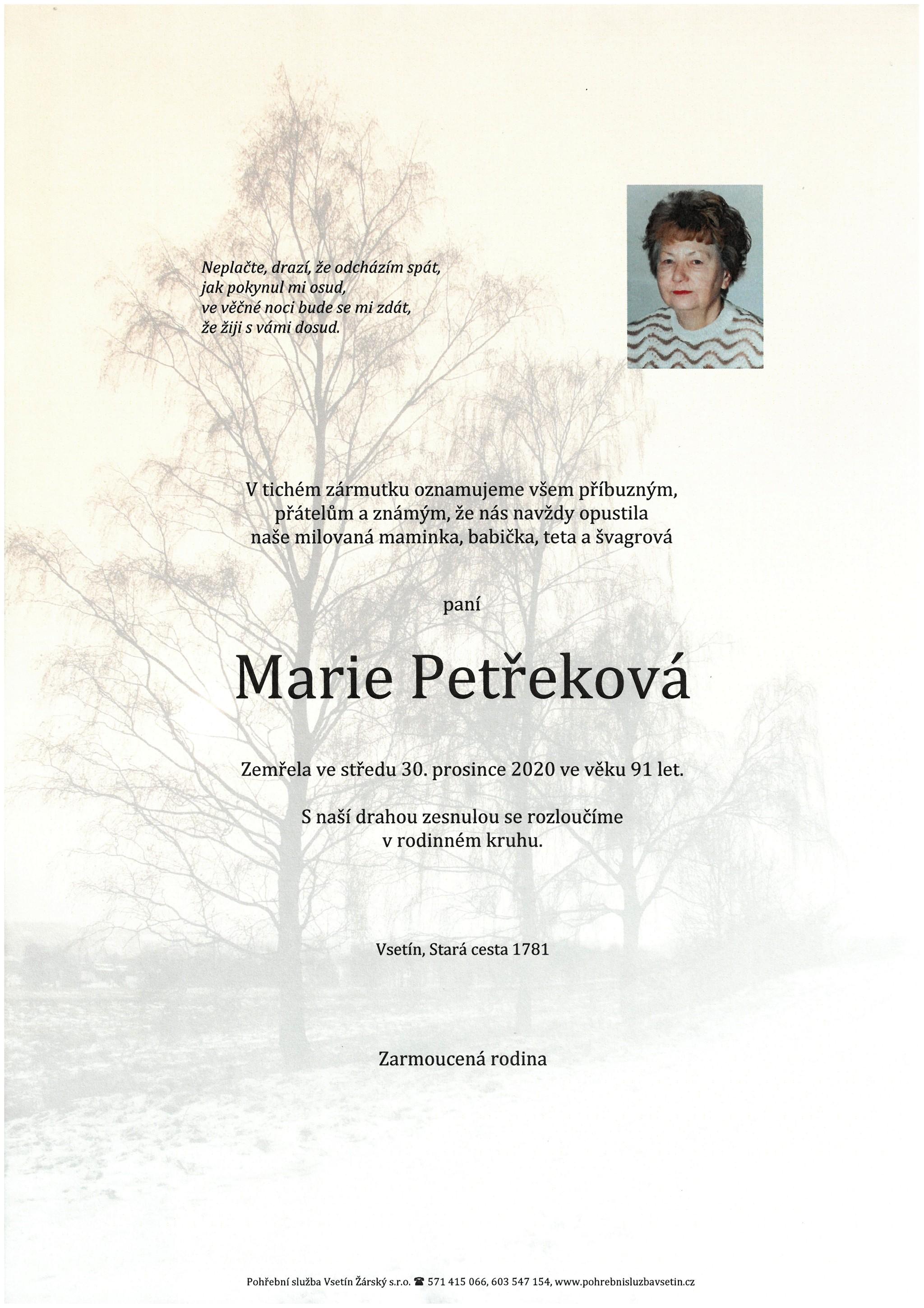 Marie Petřeková