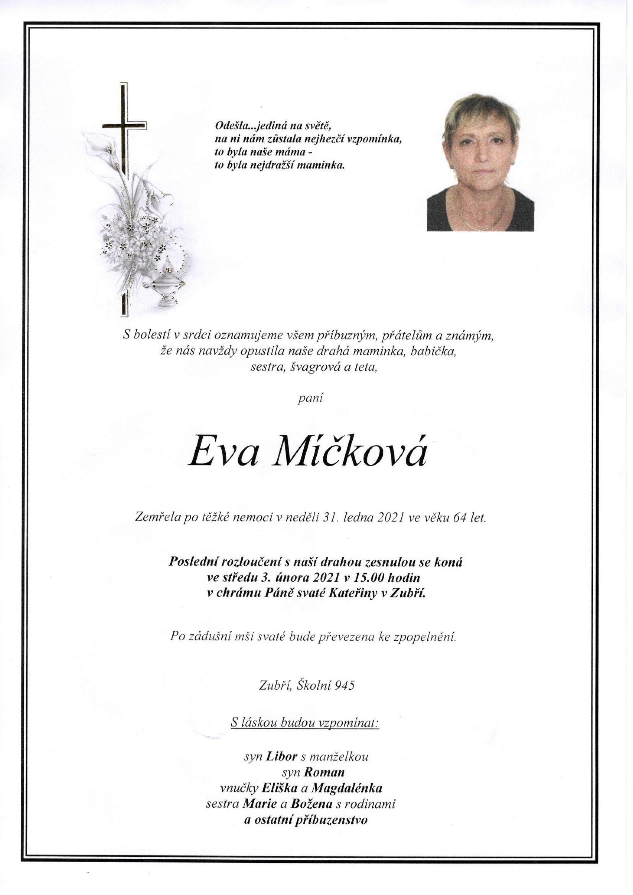 Eva Míčková