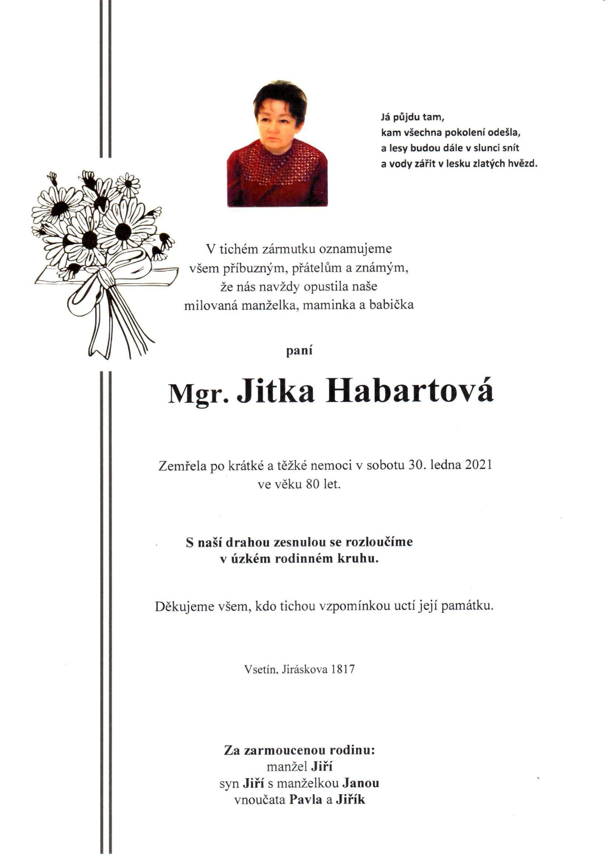 Mgr. Jitka Habartová