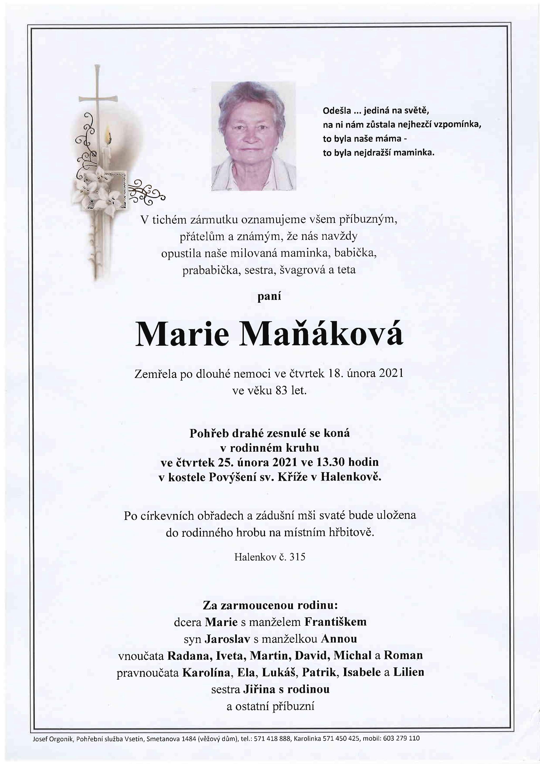 Marie Maňáková