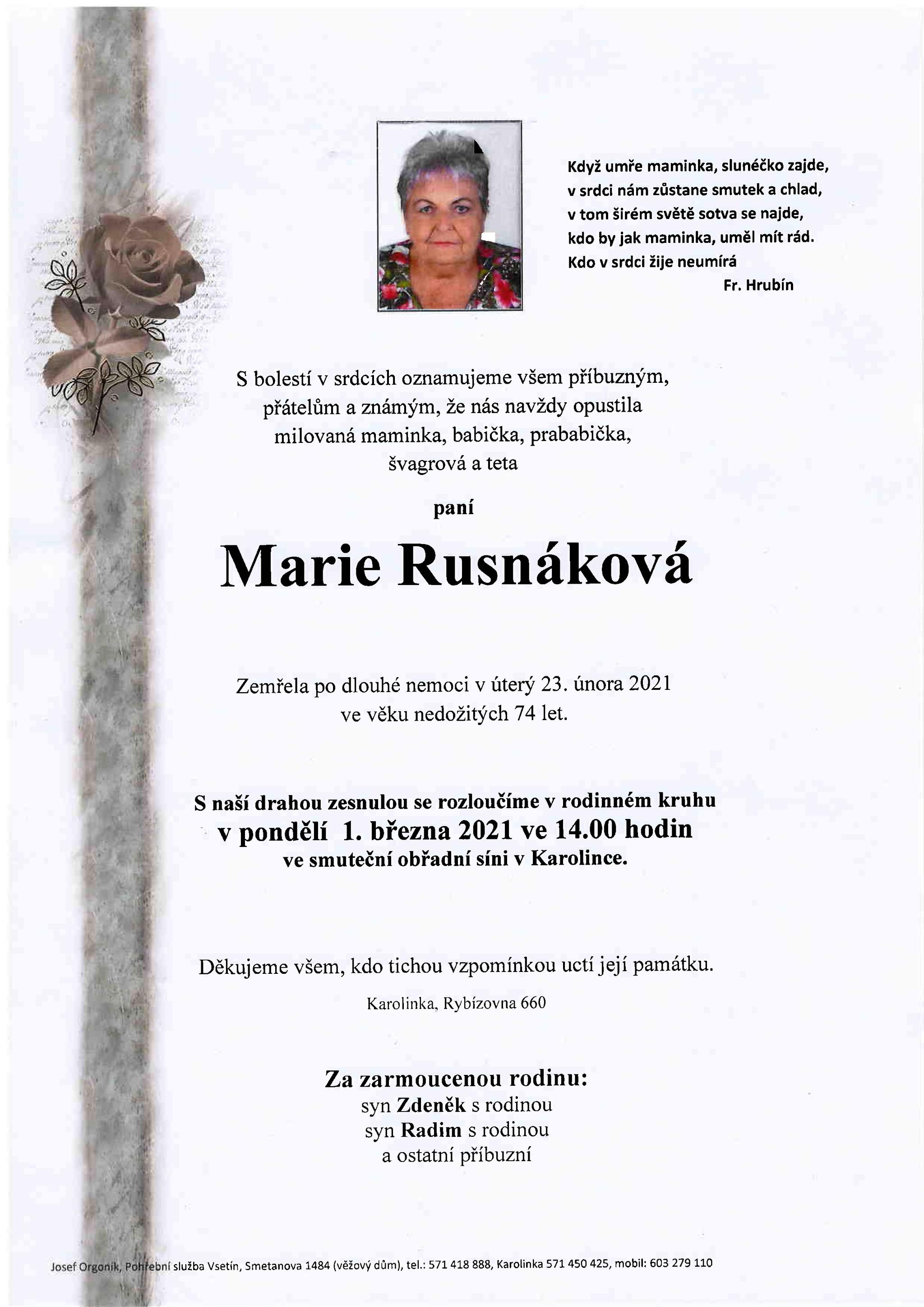 Marie Rusnáková