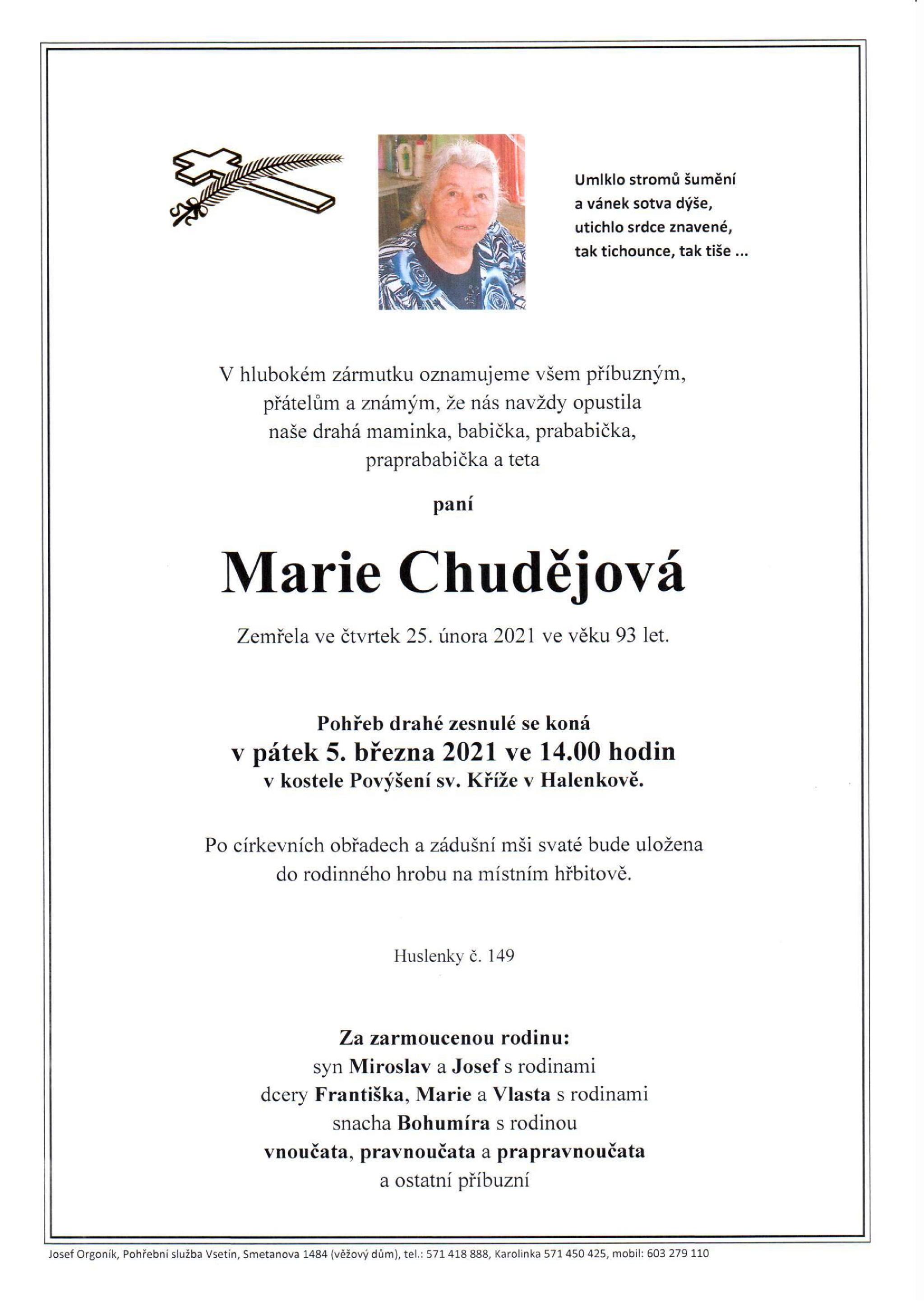 Marie Chudějová