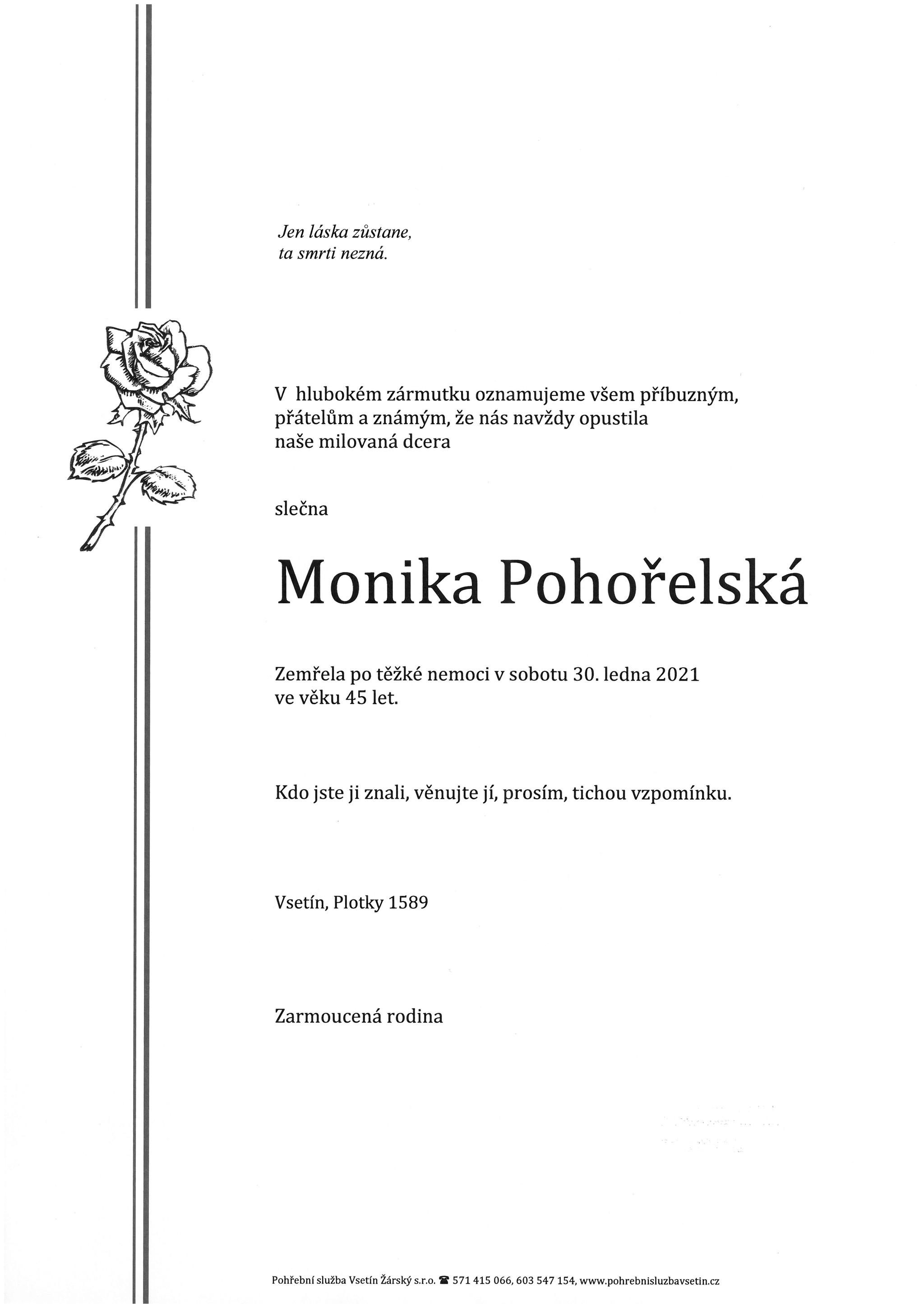 Monika Pohořelská