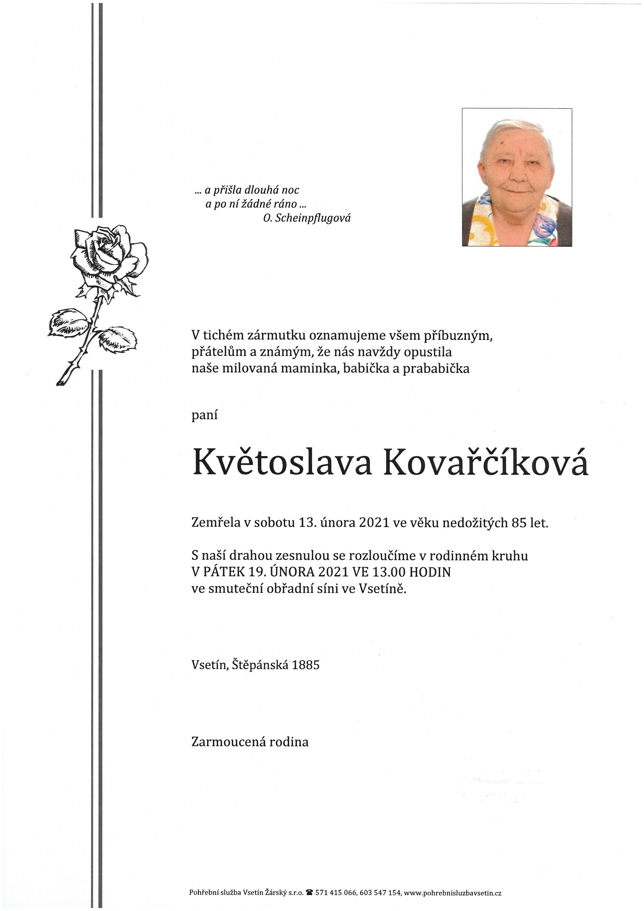 Květoslava Kovařčíková