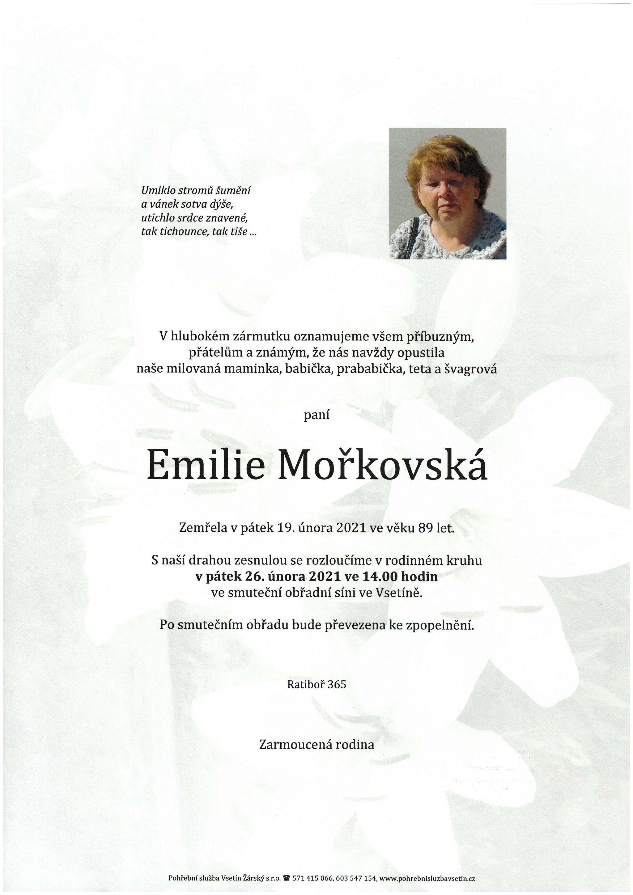 Emilie Mořkovská