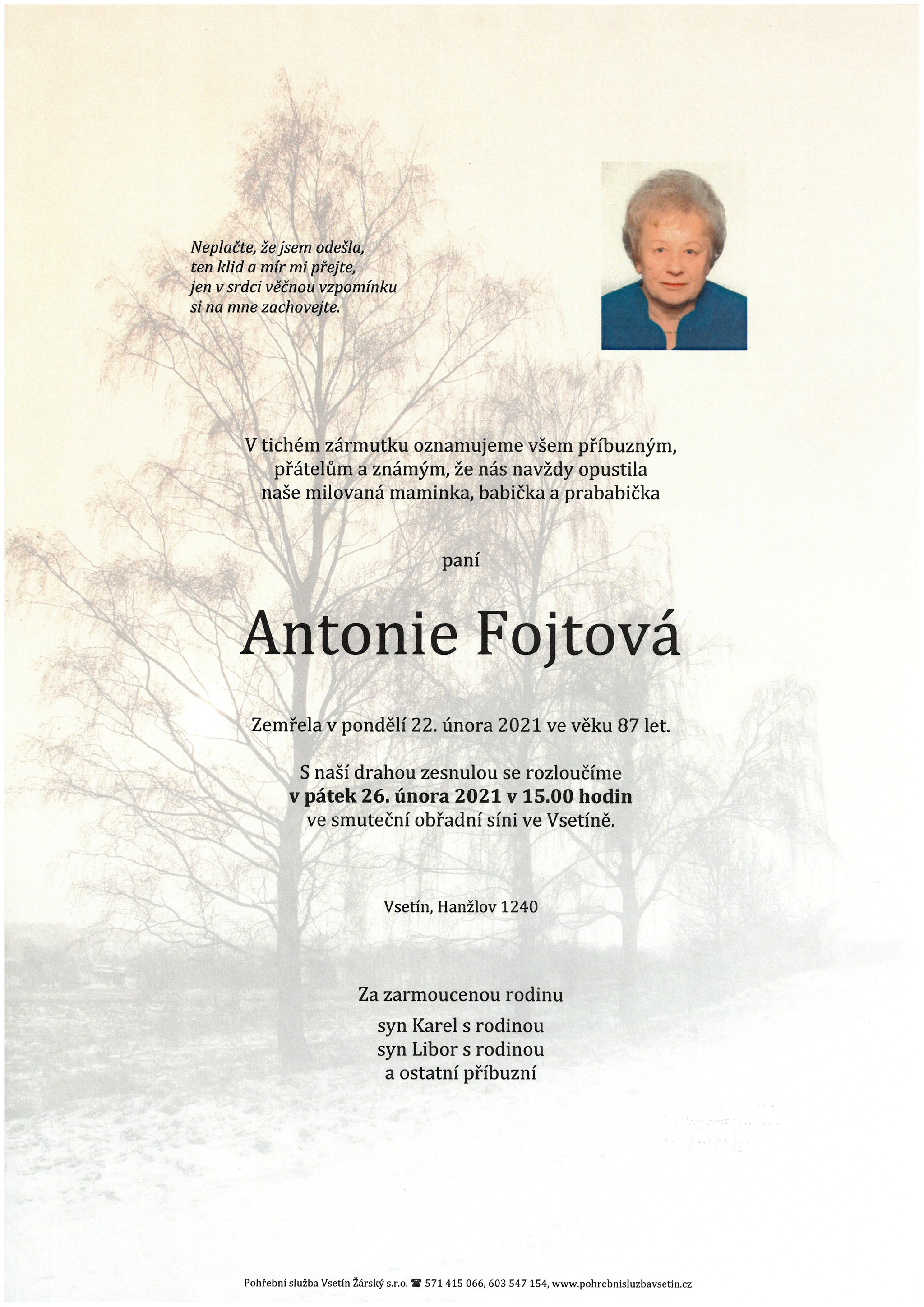 Antonie Fojtová
