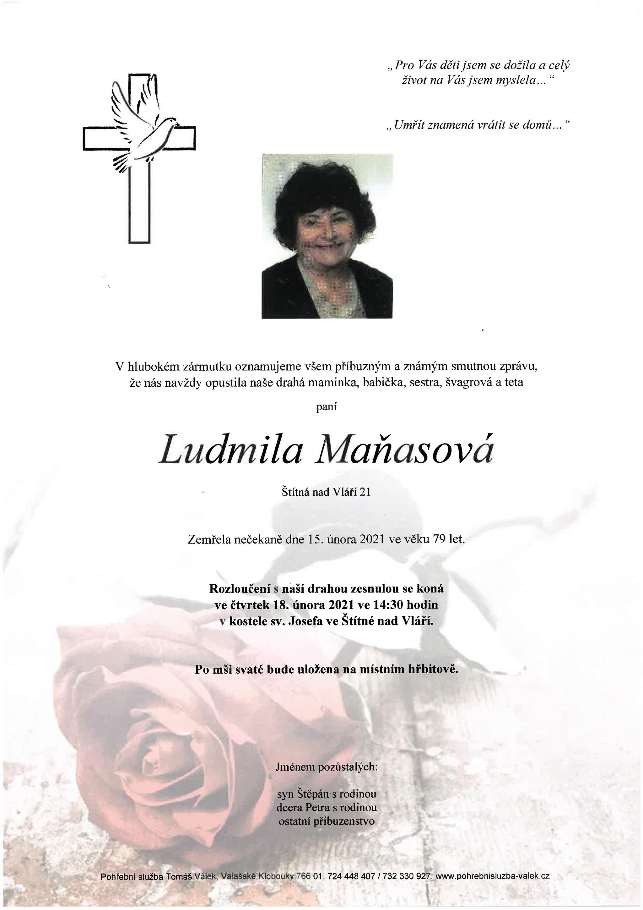 Ludmila Maňasová