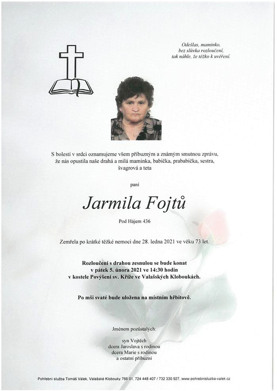 Jarmila Fojtů