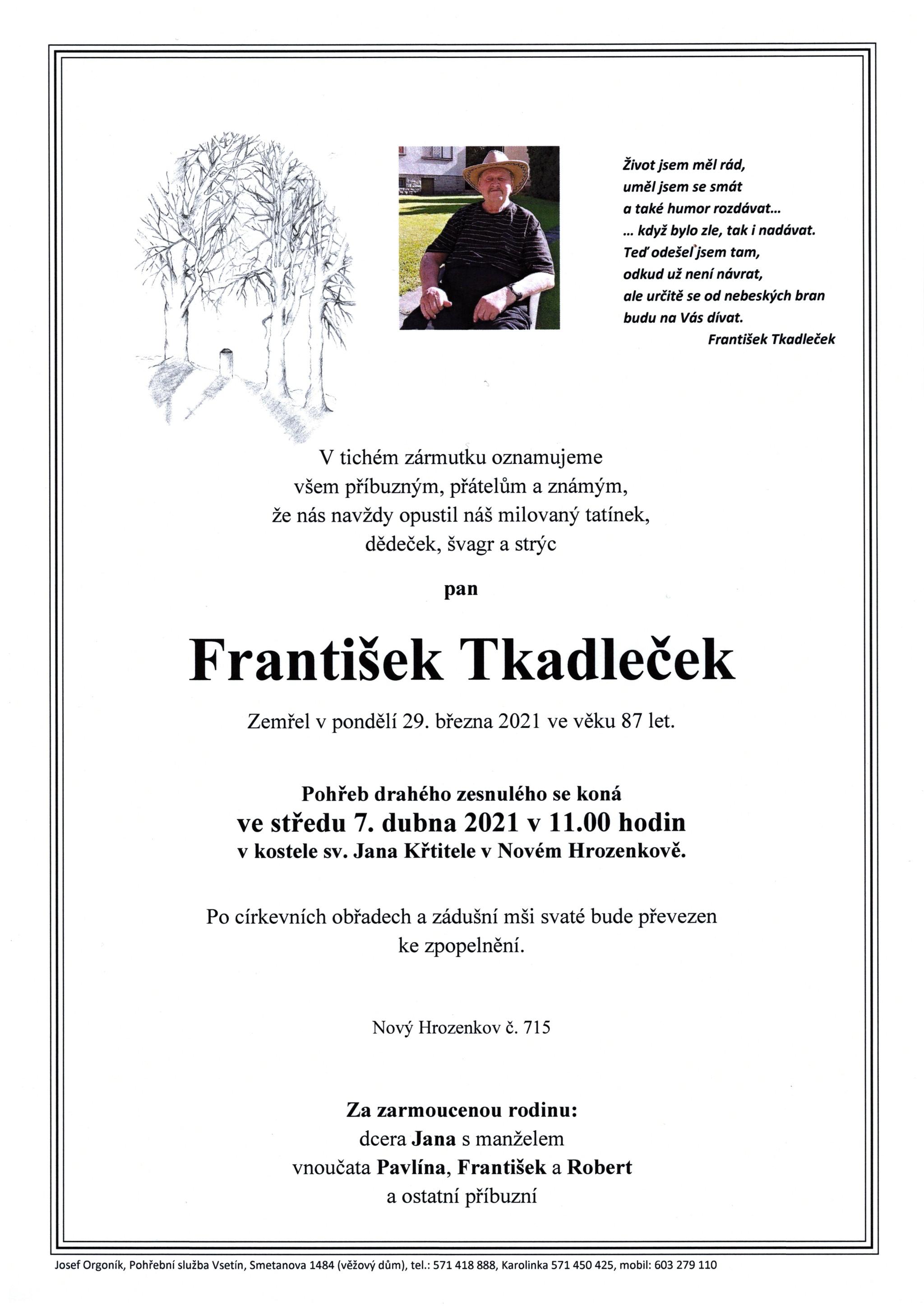 František Tkadleček