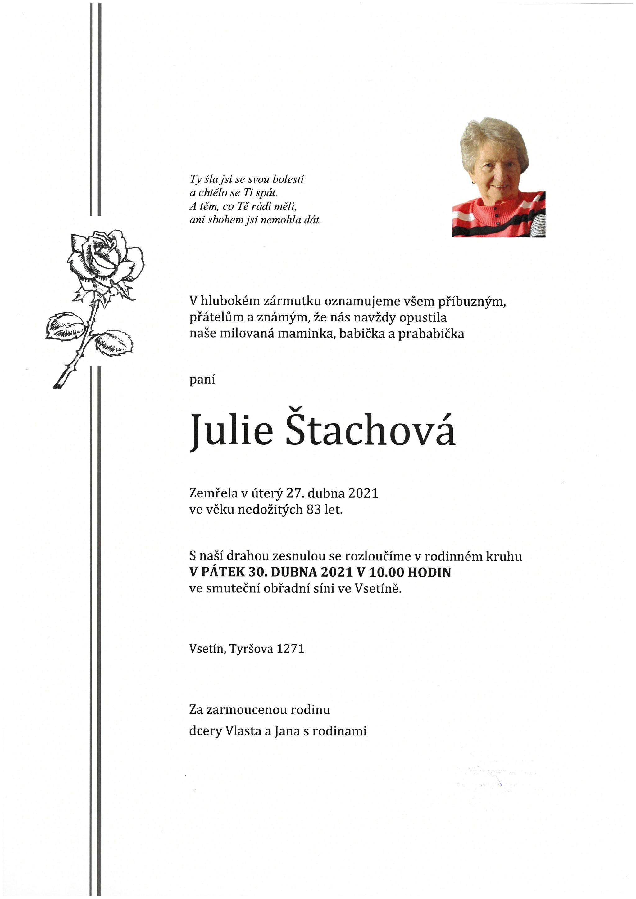 Julie Štachová