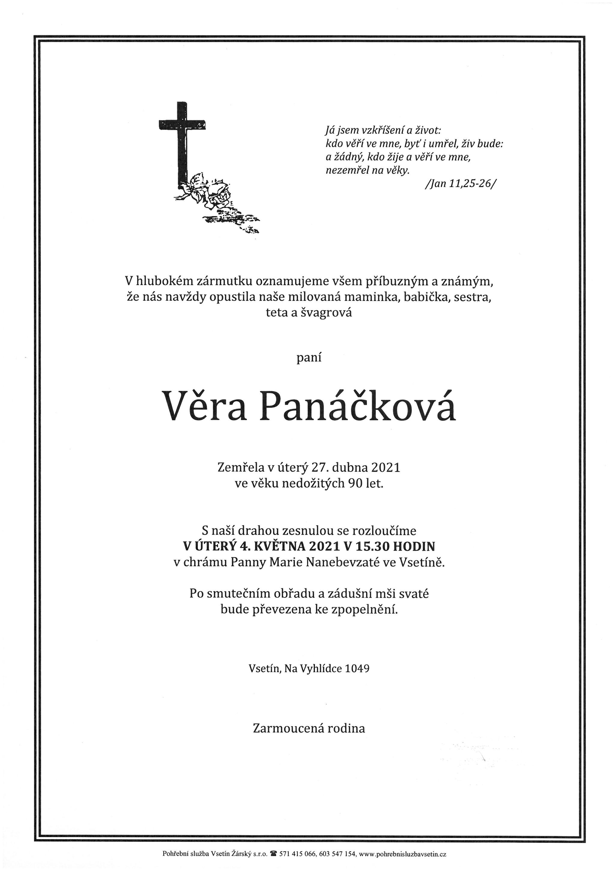 Věra Panáčková