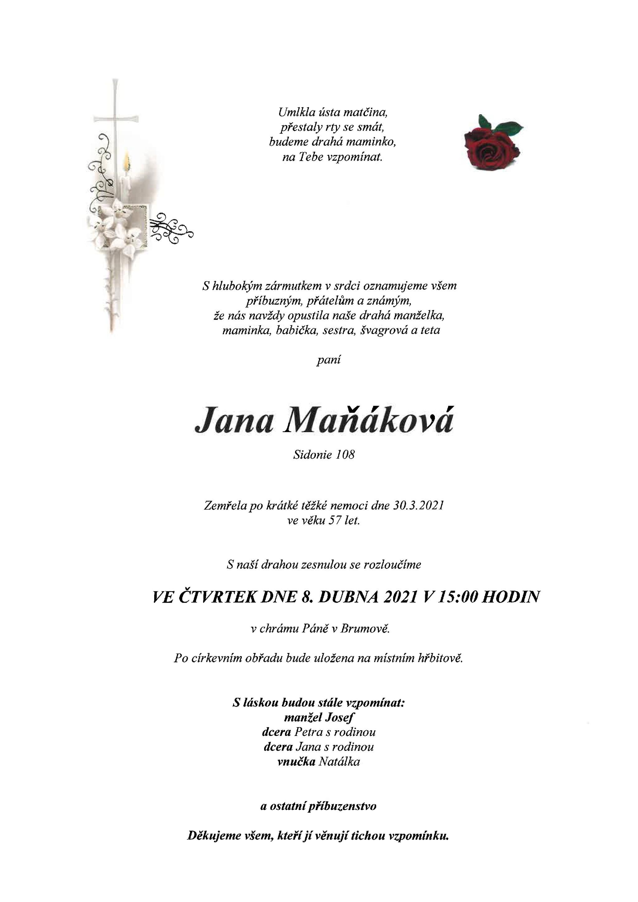 Jana Maňáková