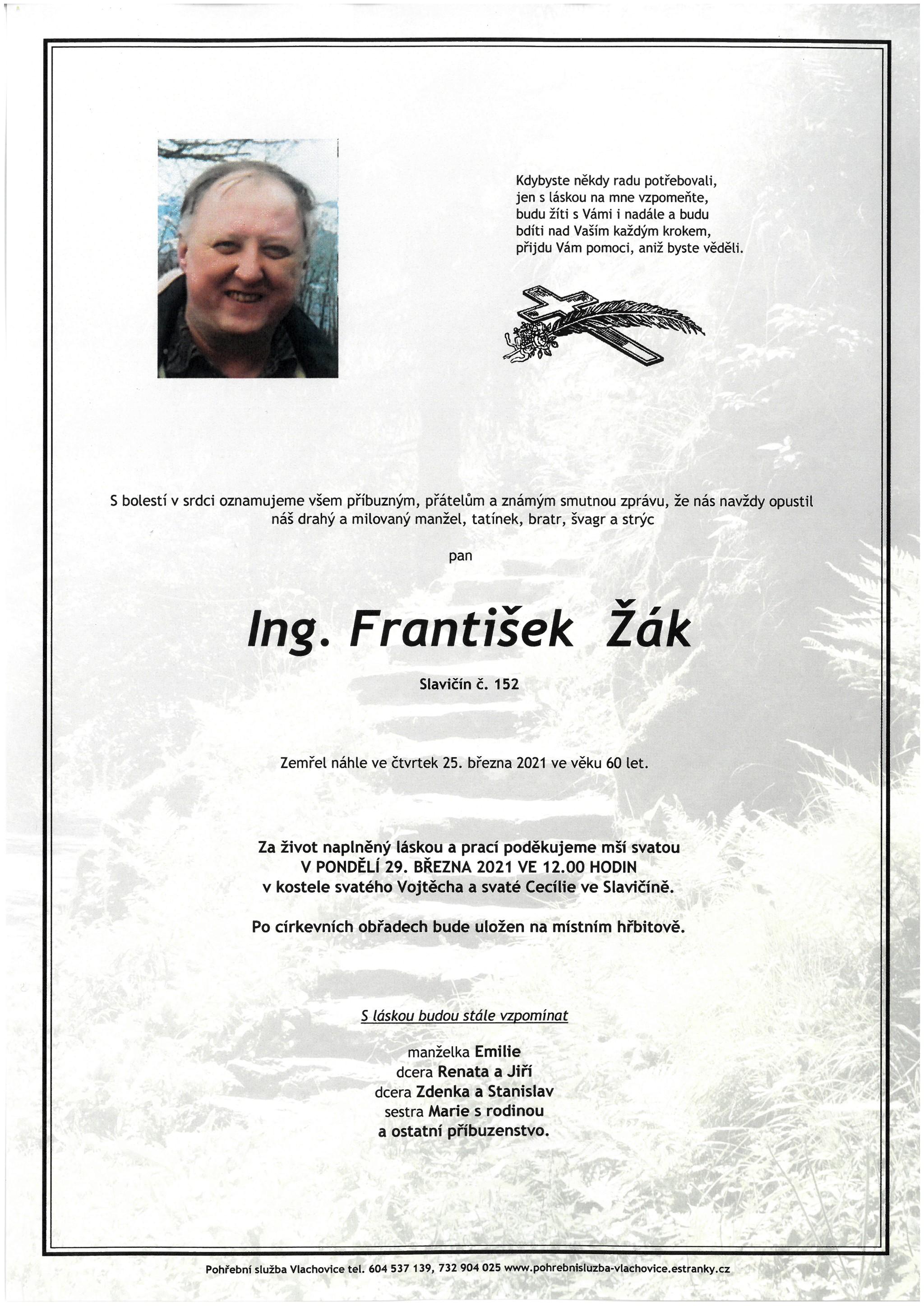 Ing. František Žák