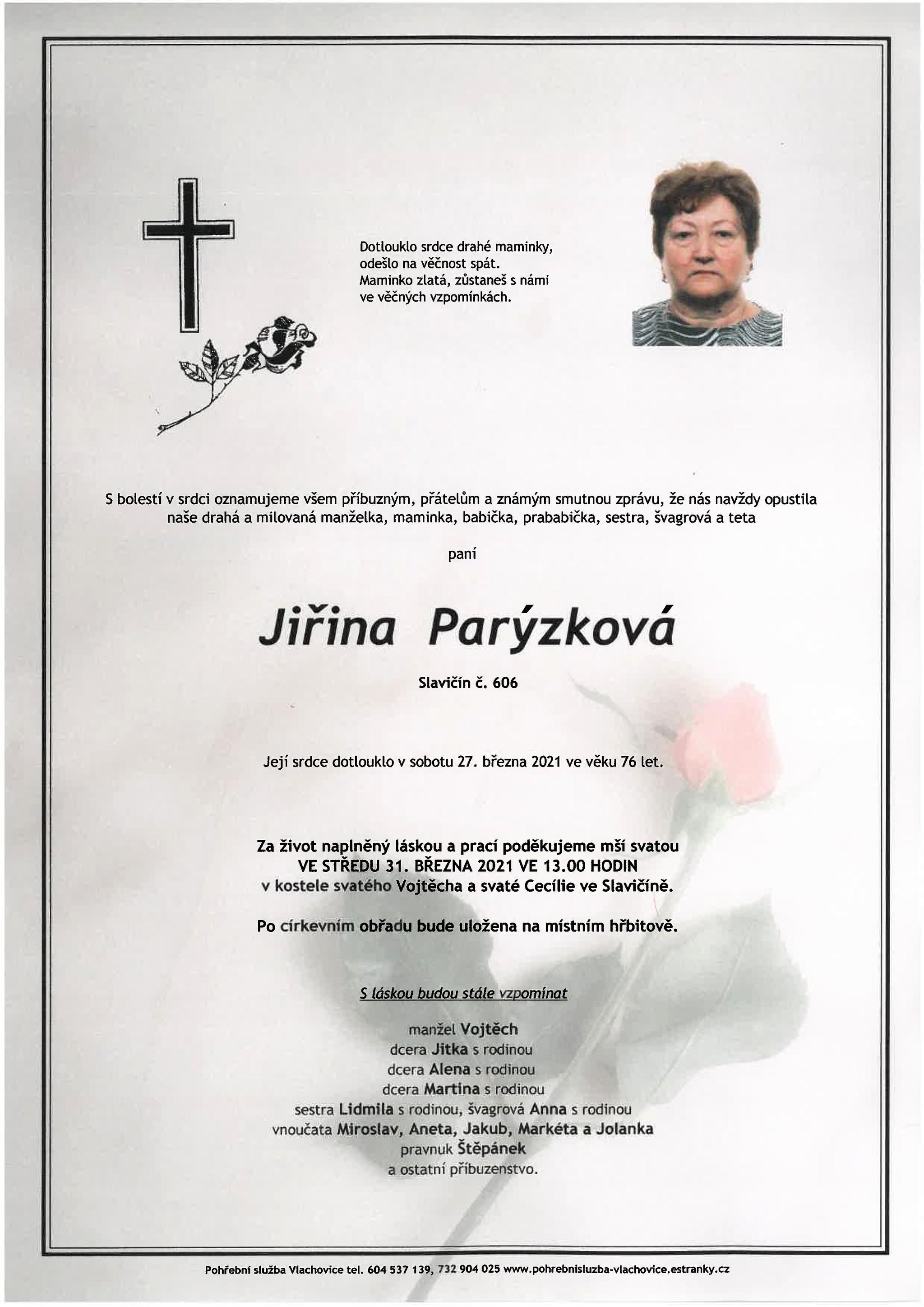 Jiřina Parýzková