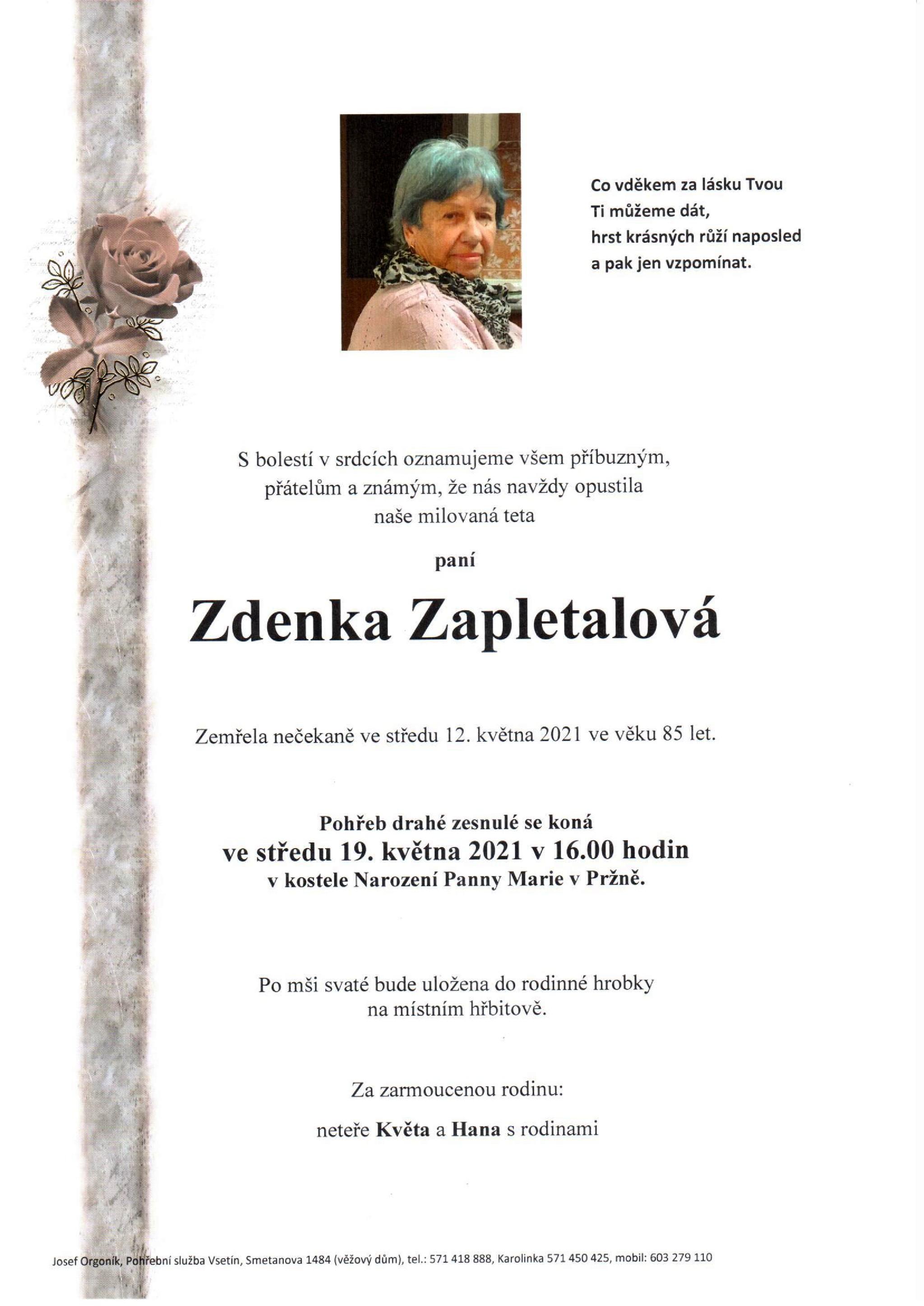 Zdenka Zapletalová