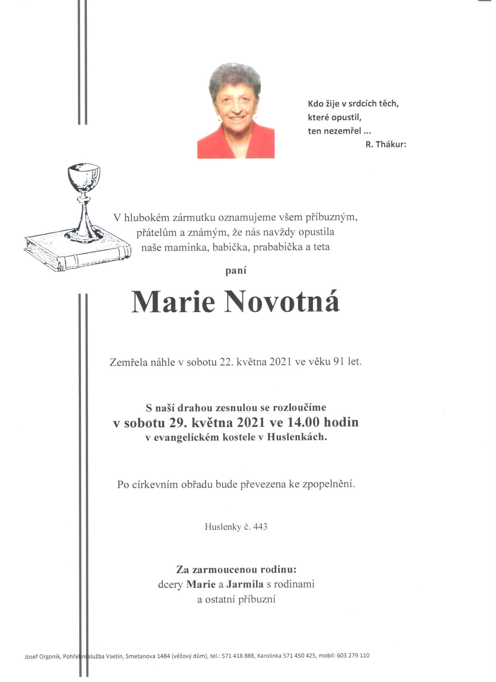 Marie Novotná