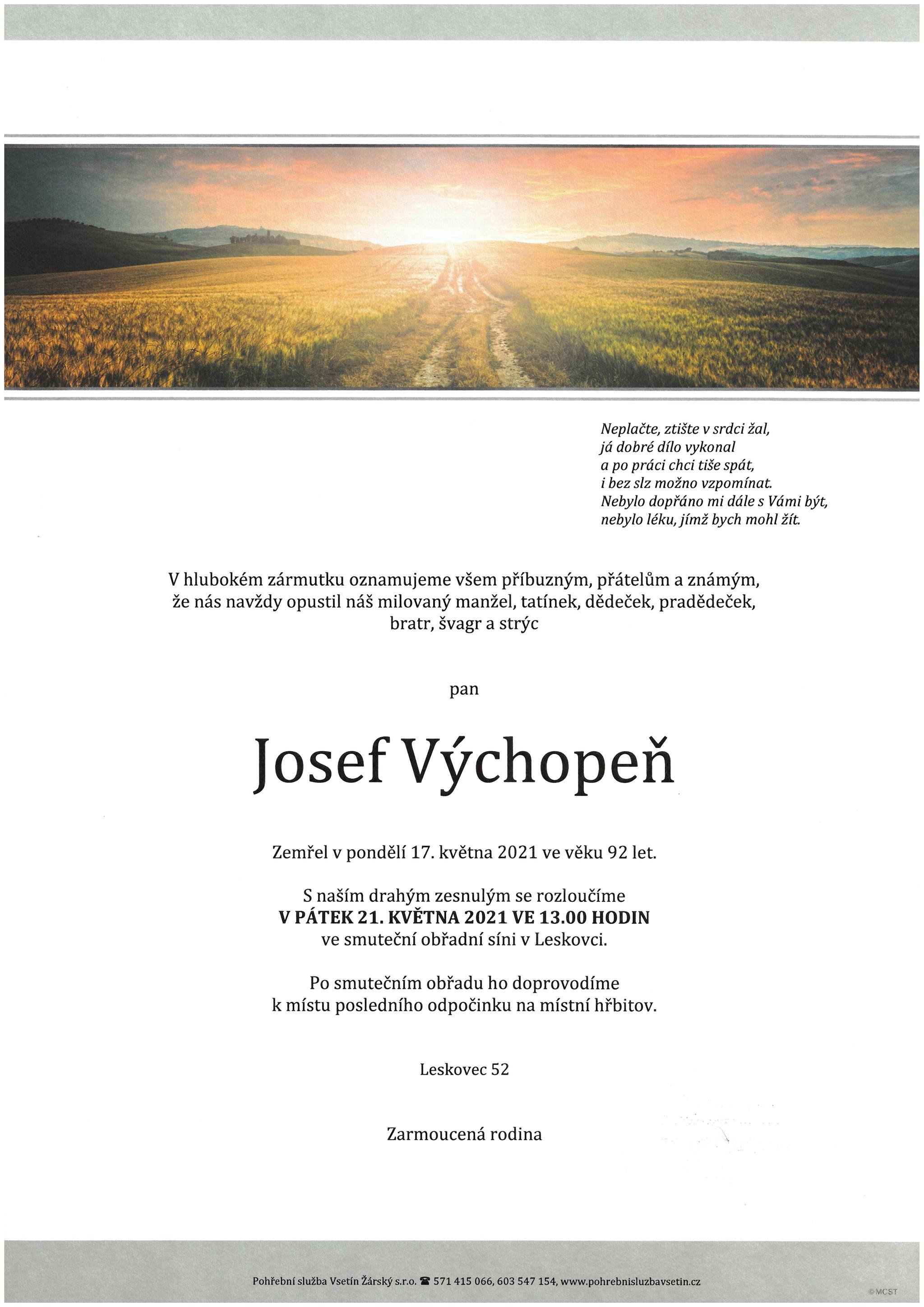 Josef Výchopeň