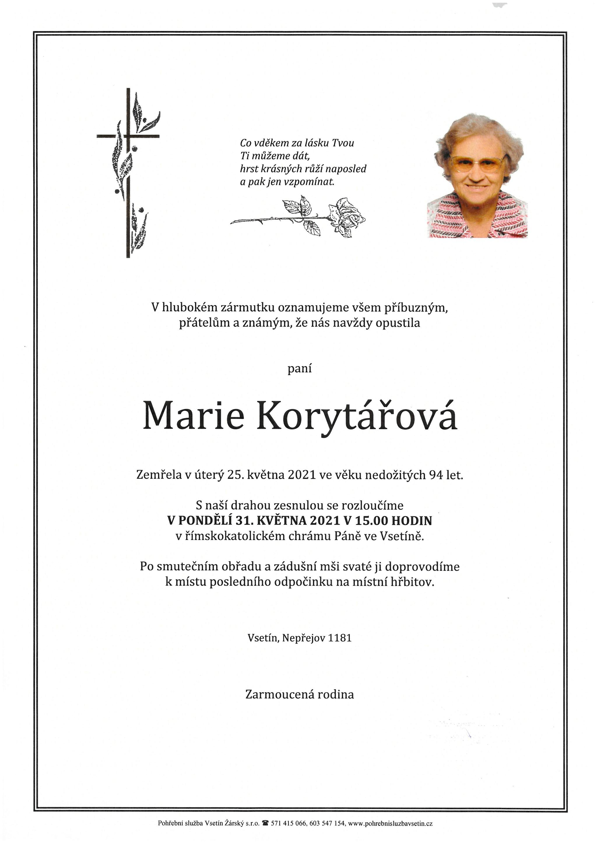 Marie Korytářová