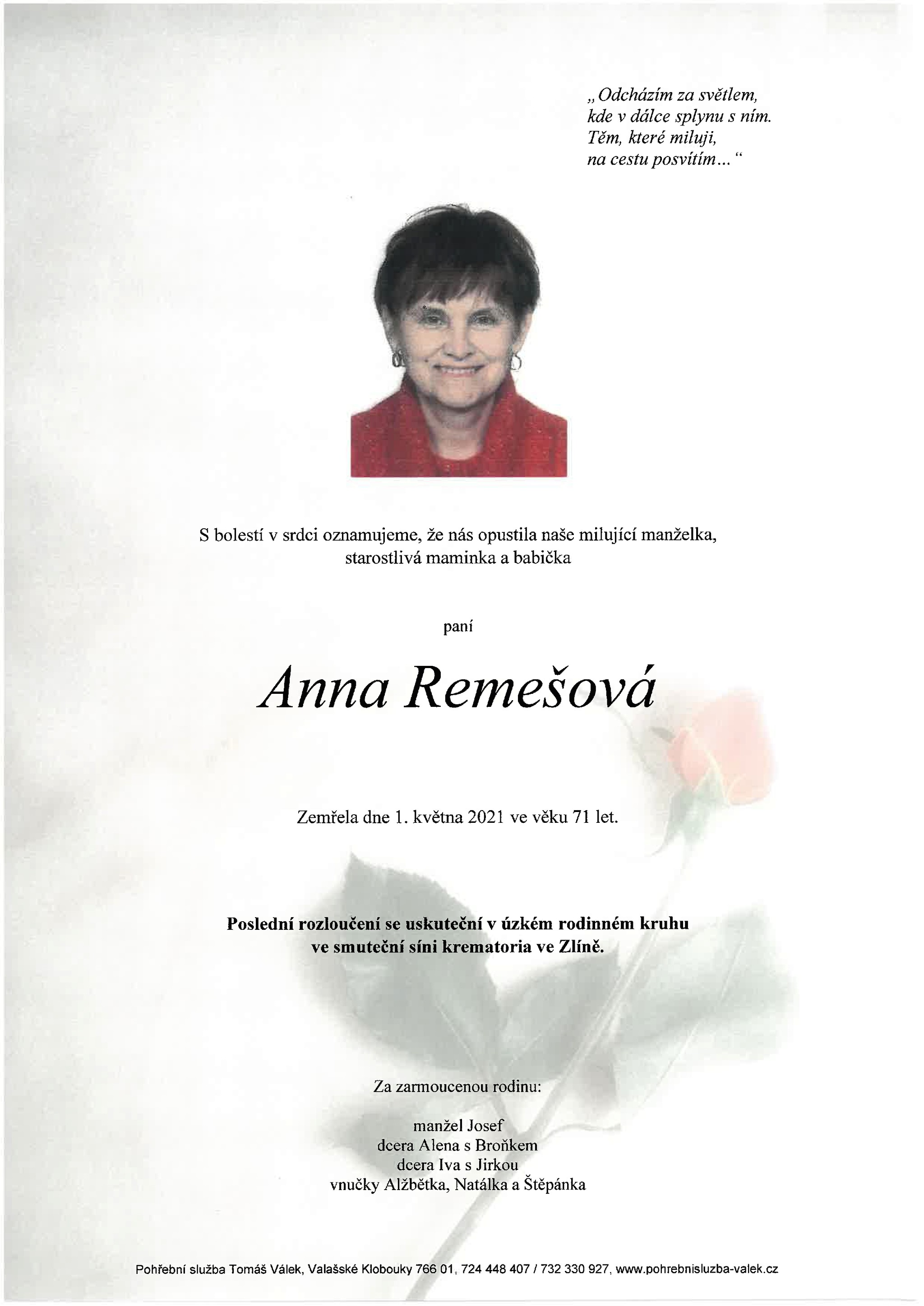 Anna Remešová