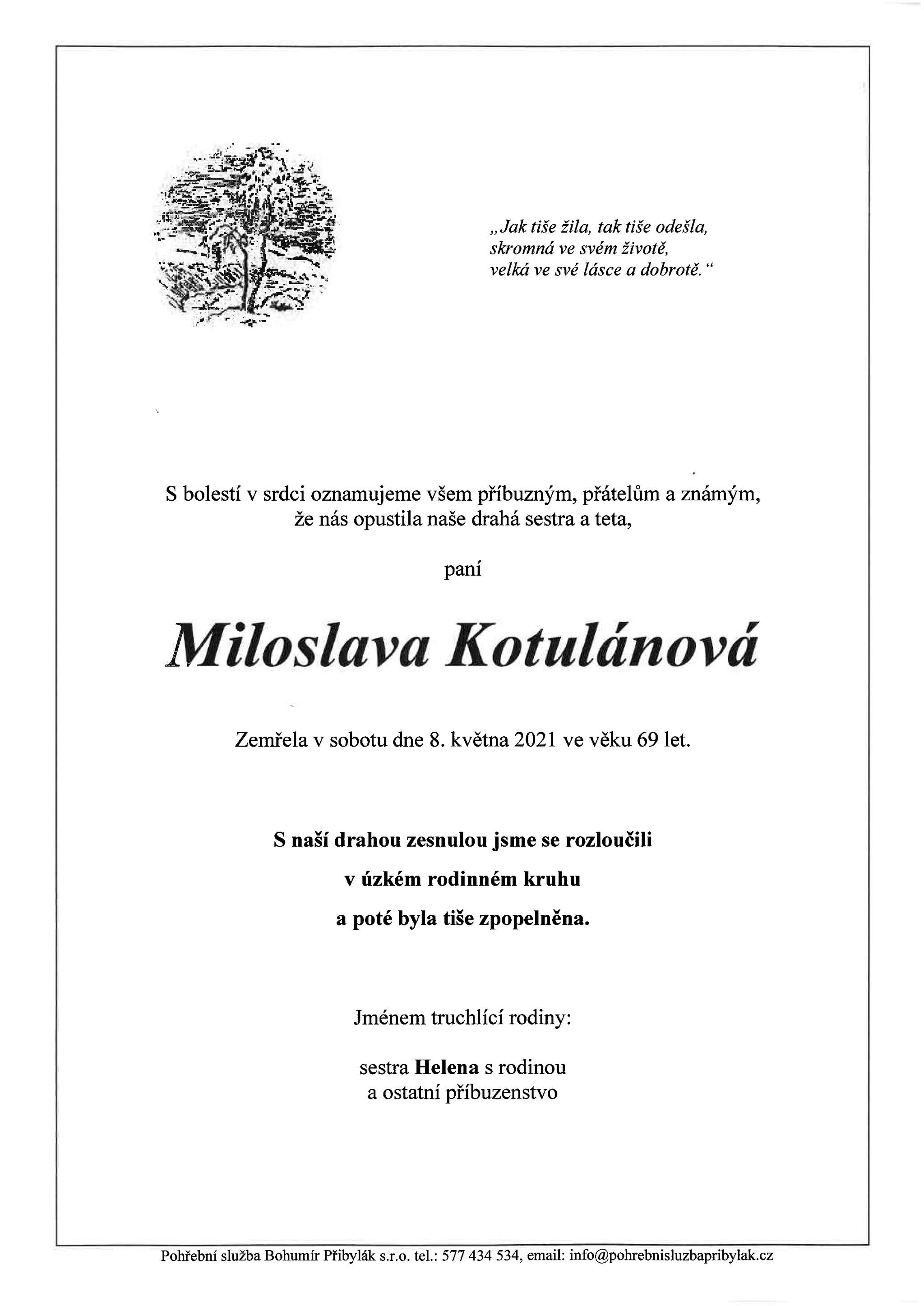 Miloslava Kotulánová