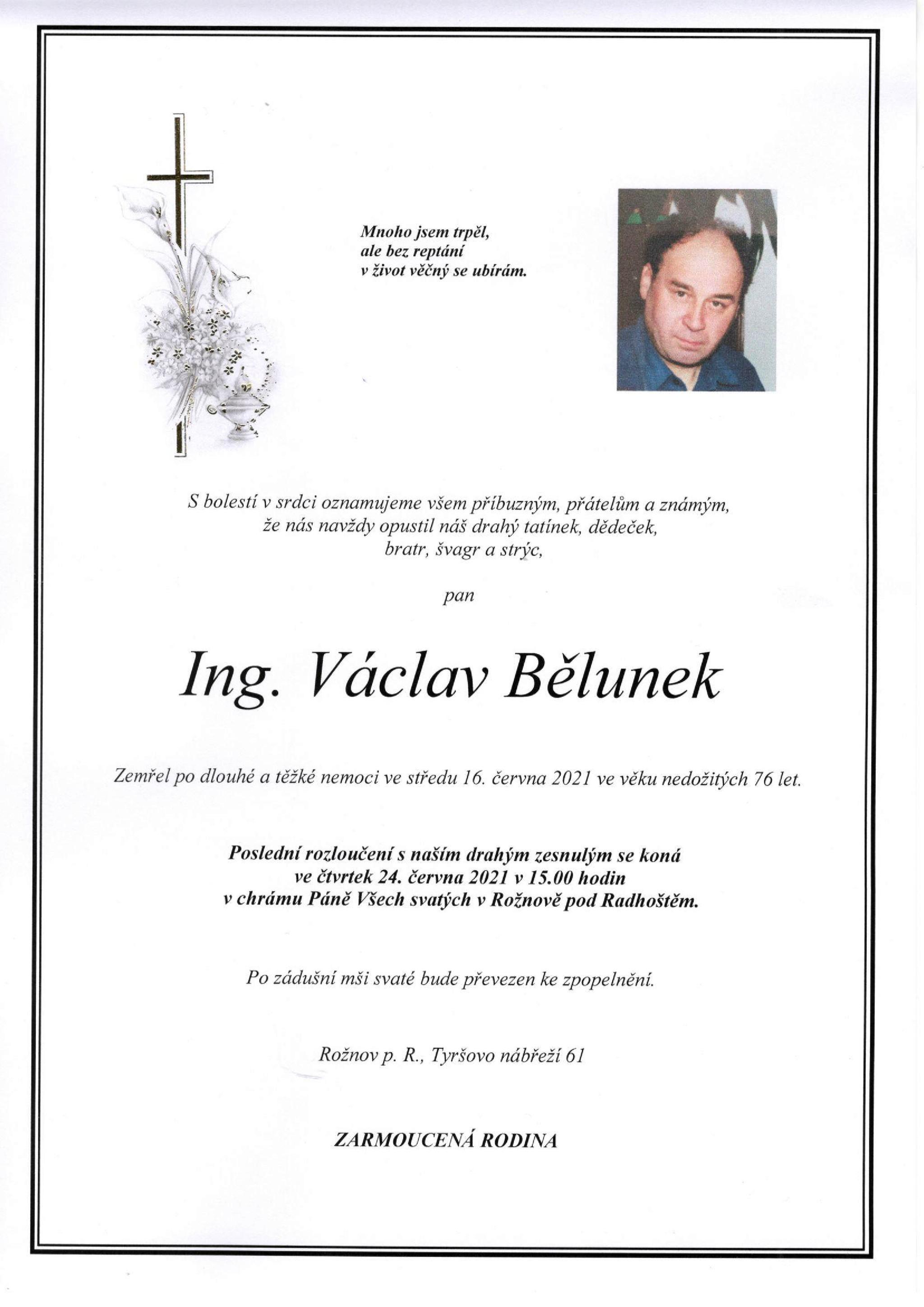 Ing. Václav Bělunek