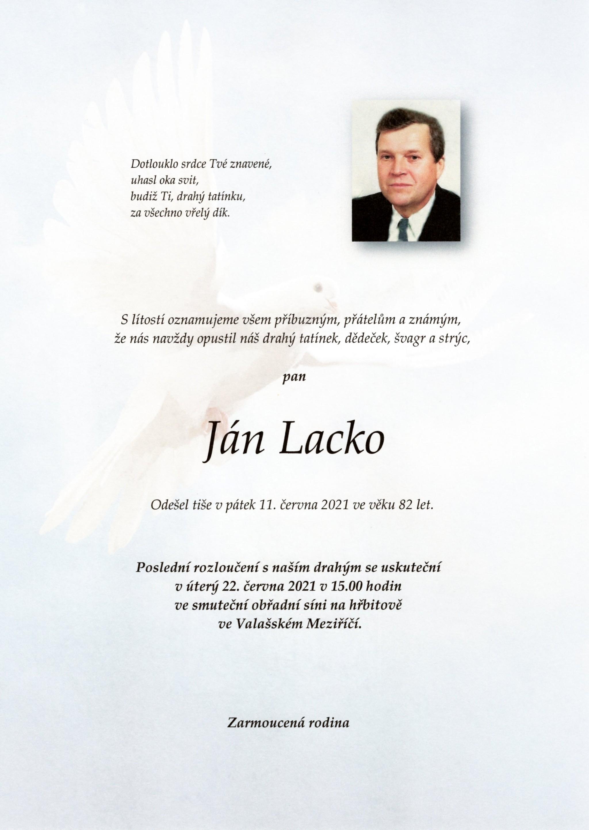 Ján Lacko