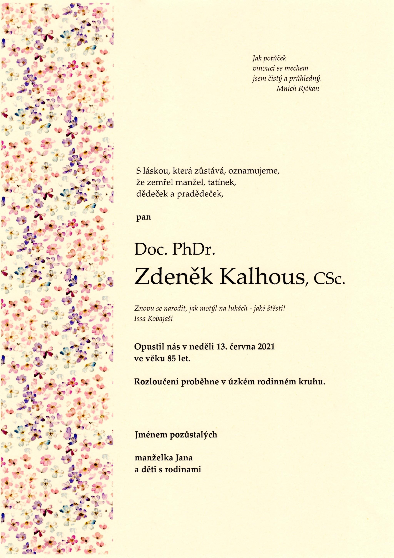 Doc. PhDr. Zdeněk Kalhous, CSc.