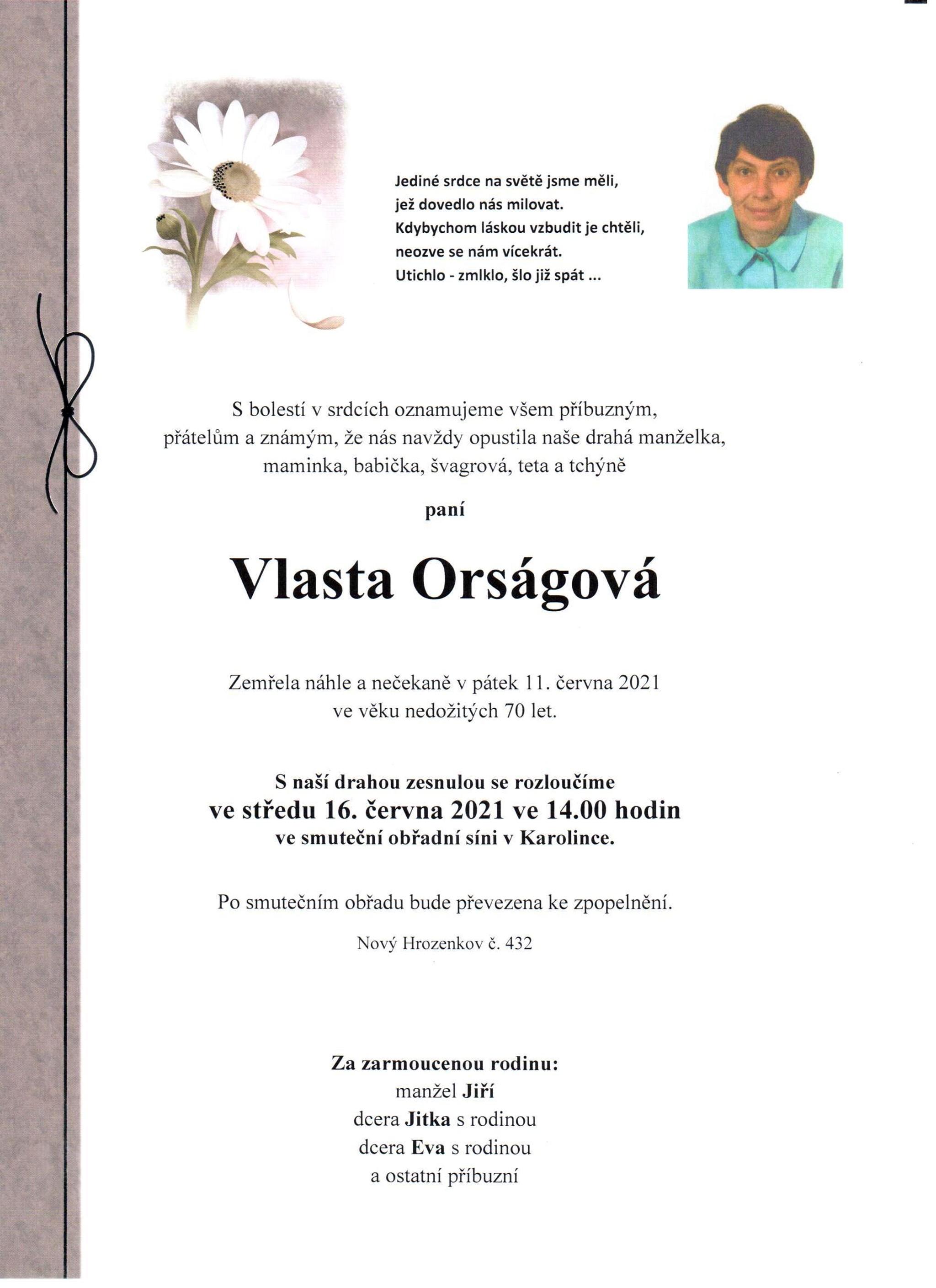 Vlasta Orságová