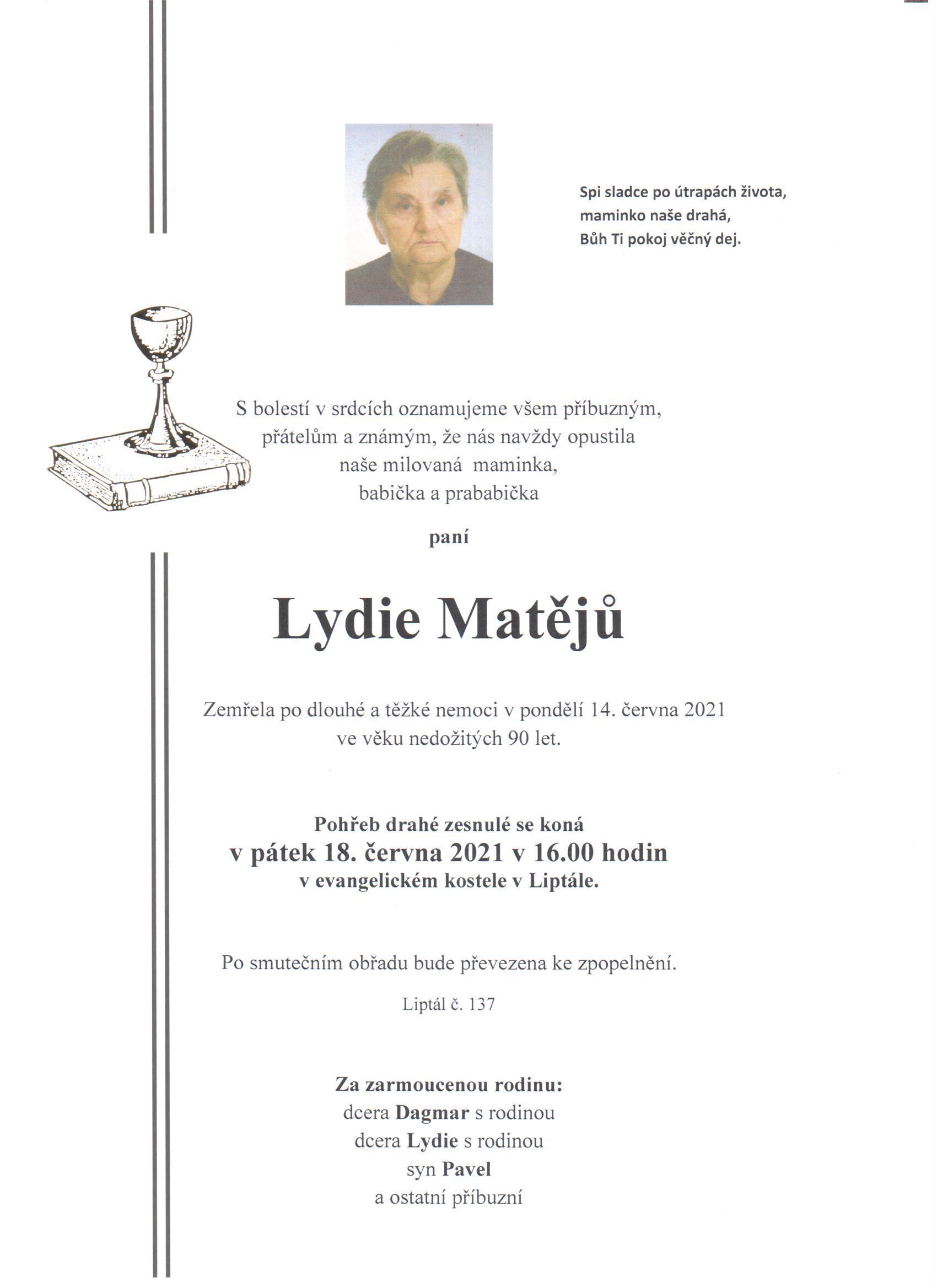 Lydie Matějů