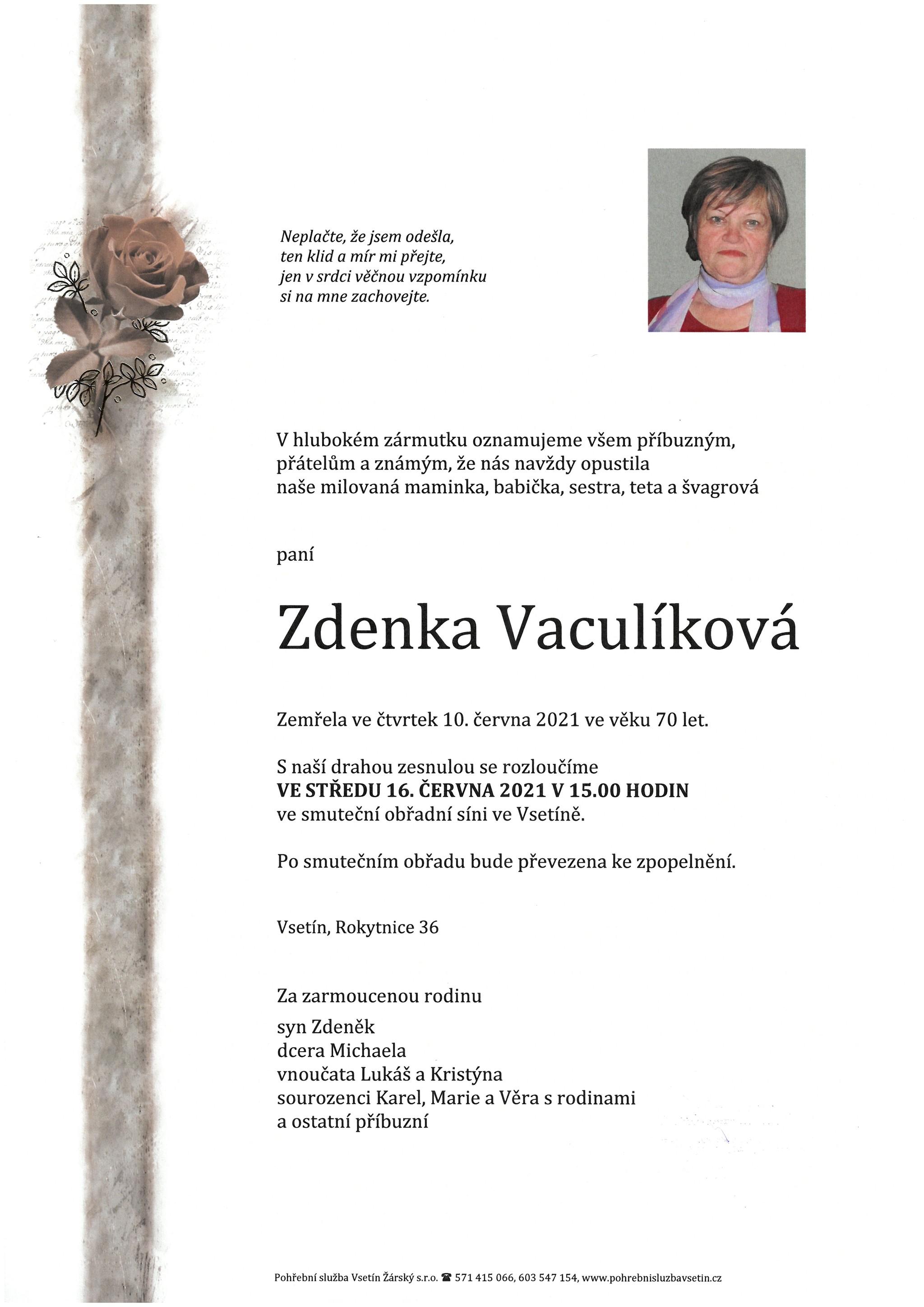 Zdenka Vaculíková