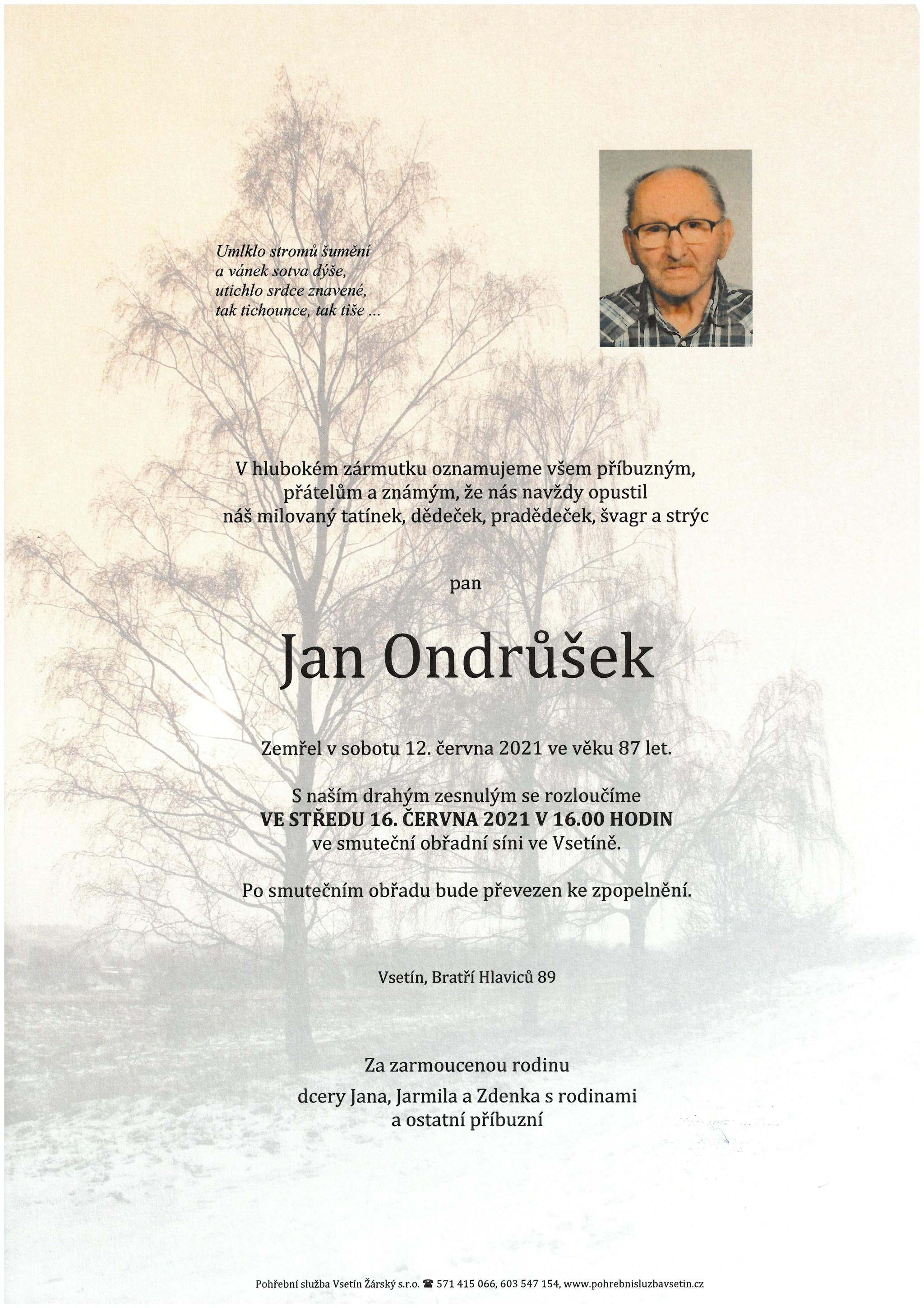 Jan Ondrůšek