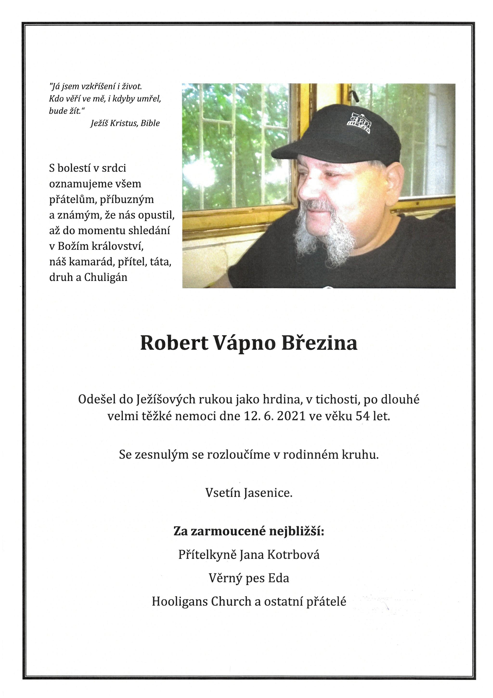 Robert Vápno Březina