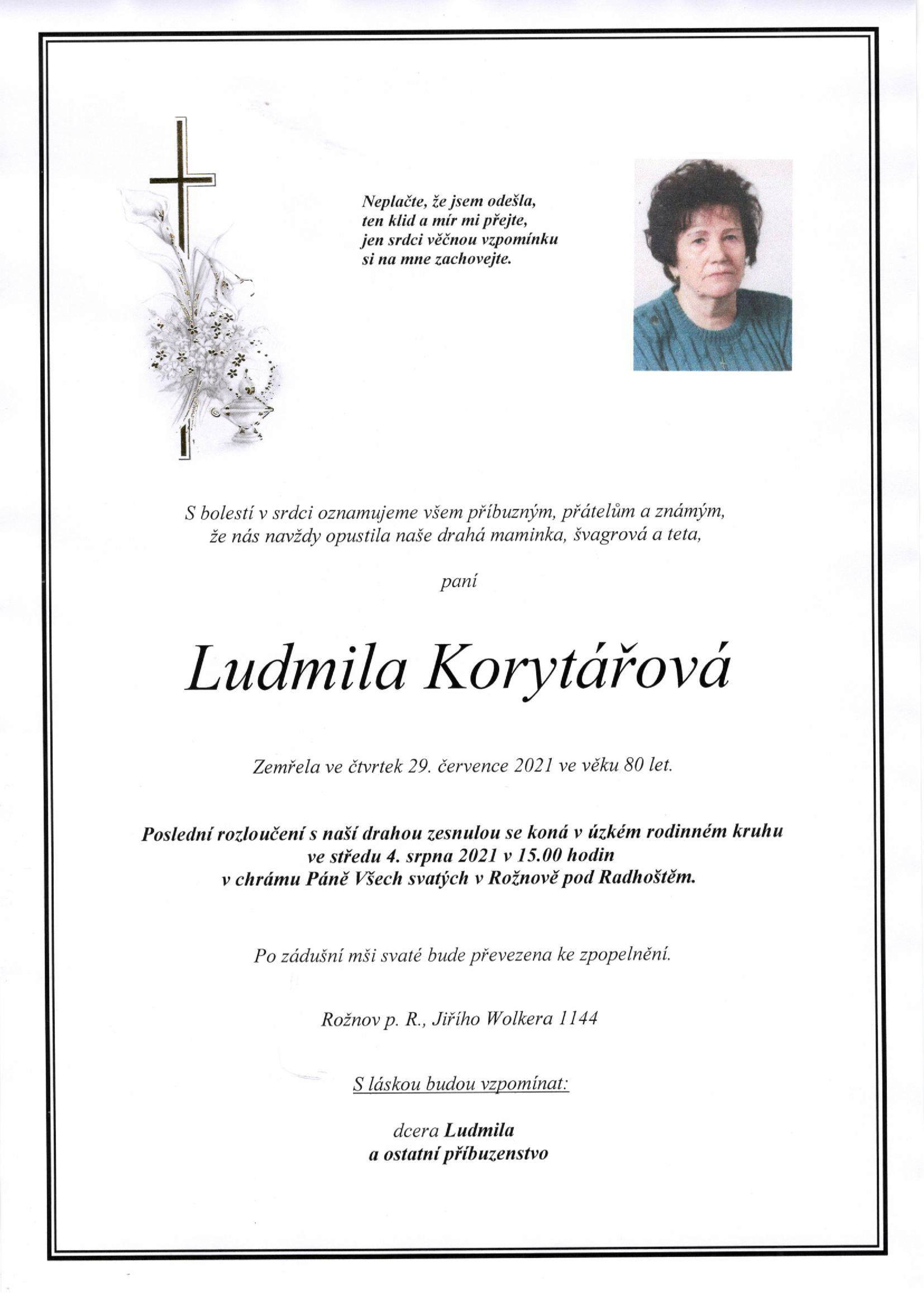 Ludmila Korytářová