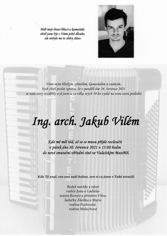 Ing. arch. Jakub Vilém