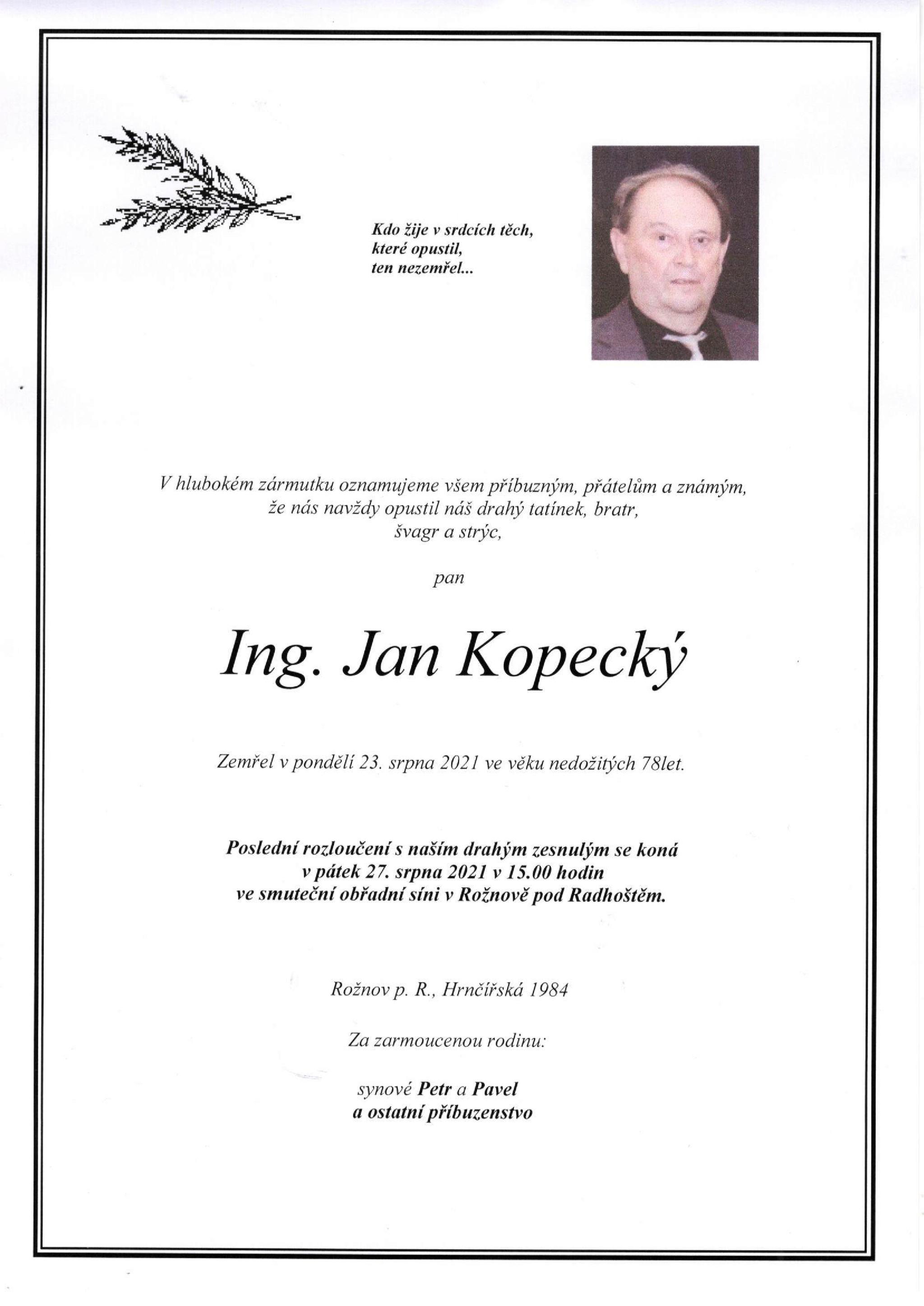 Ing. Jan Kopecký
