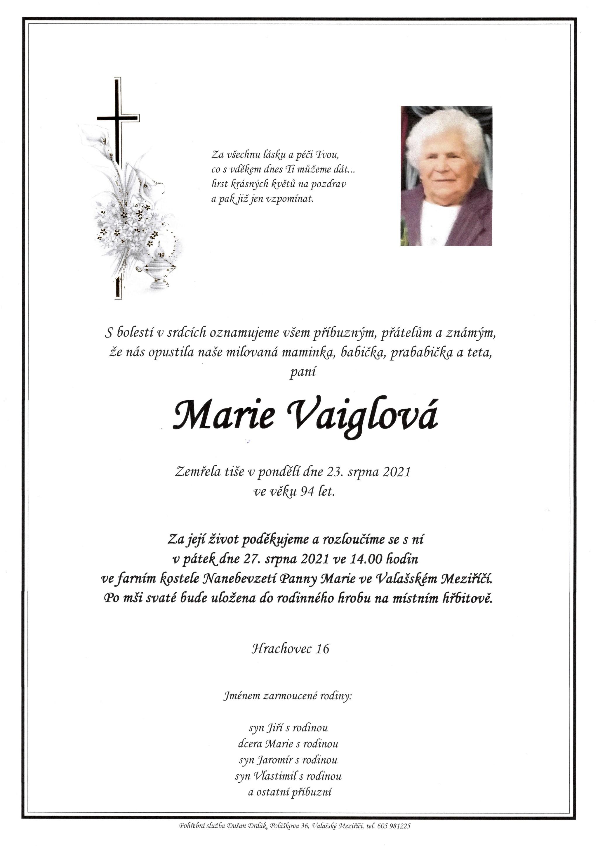 Marie Vaiglová