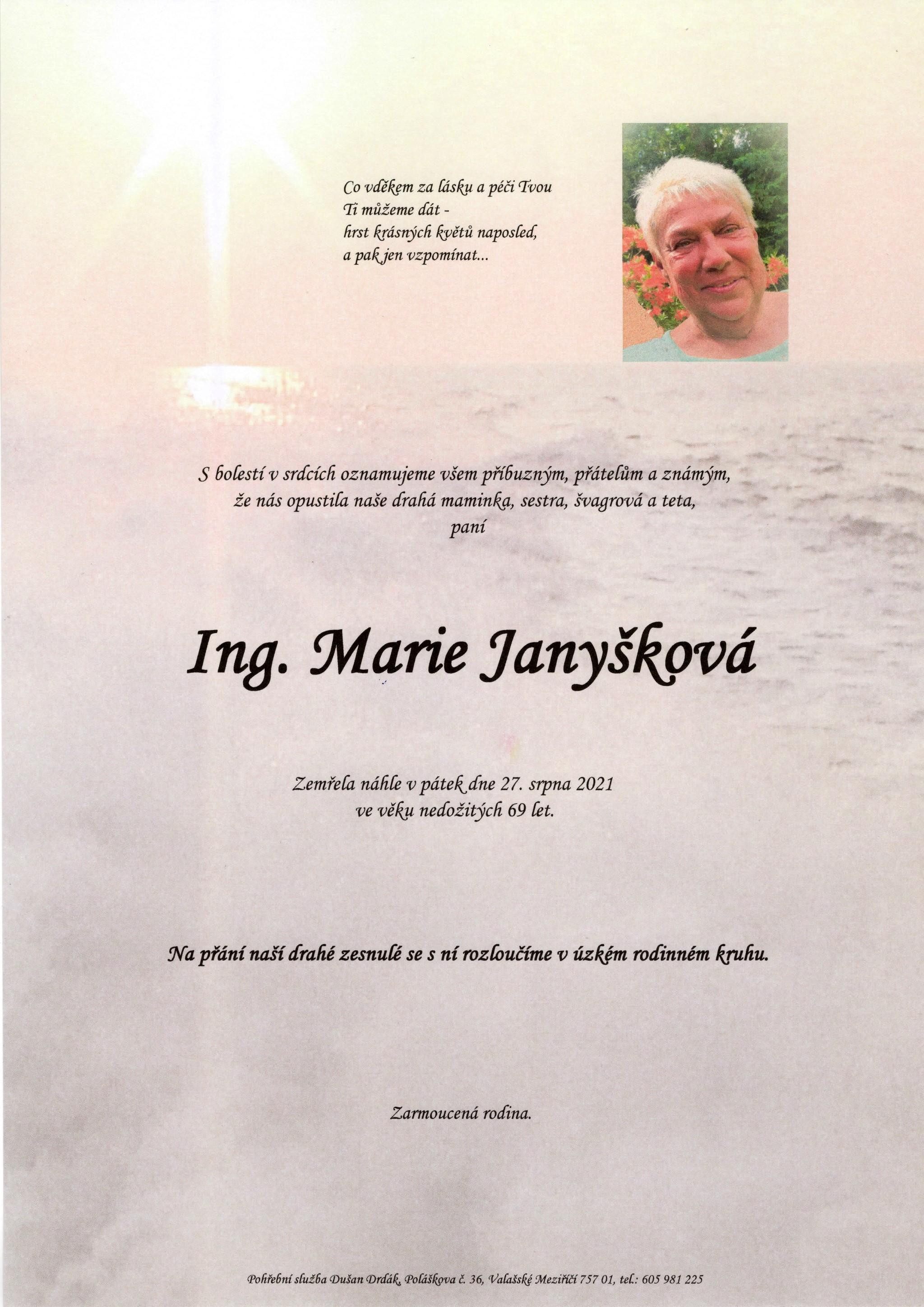 Ing. Marie Janyšková