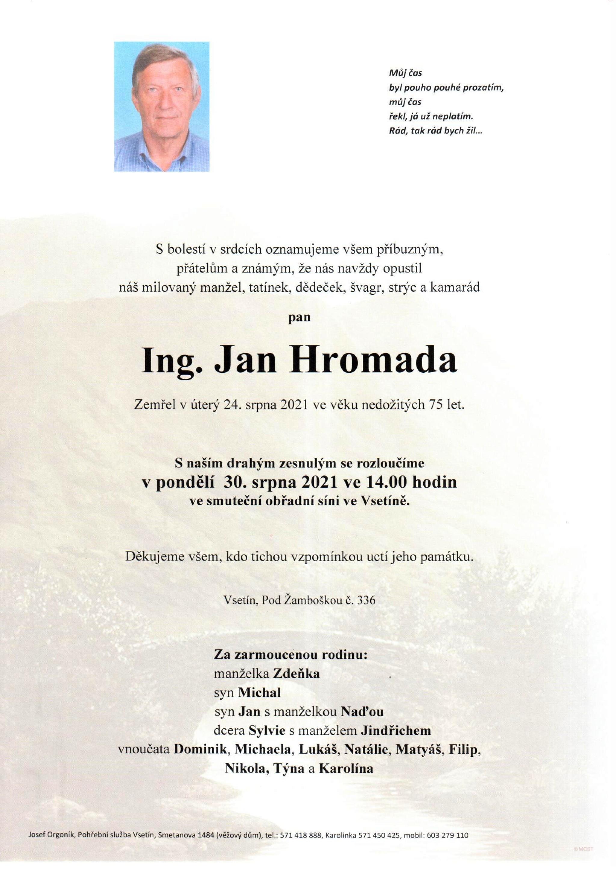 Ing. Jan Hromada