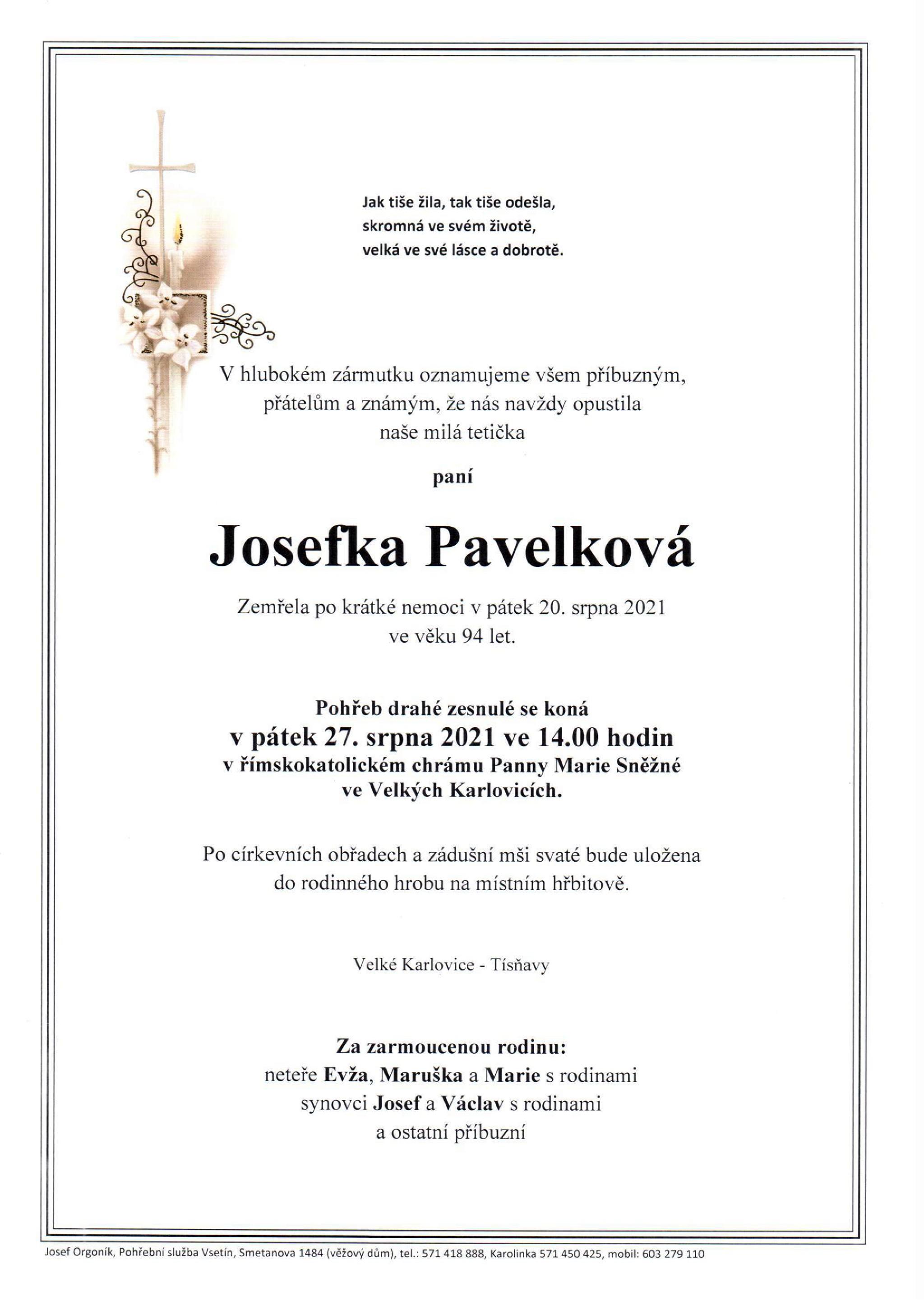 Josefka Pavelková