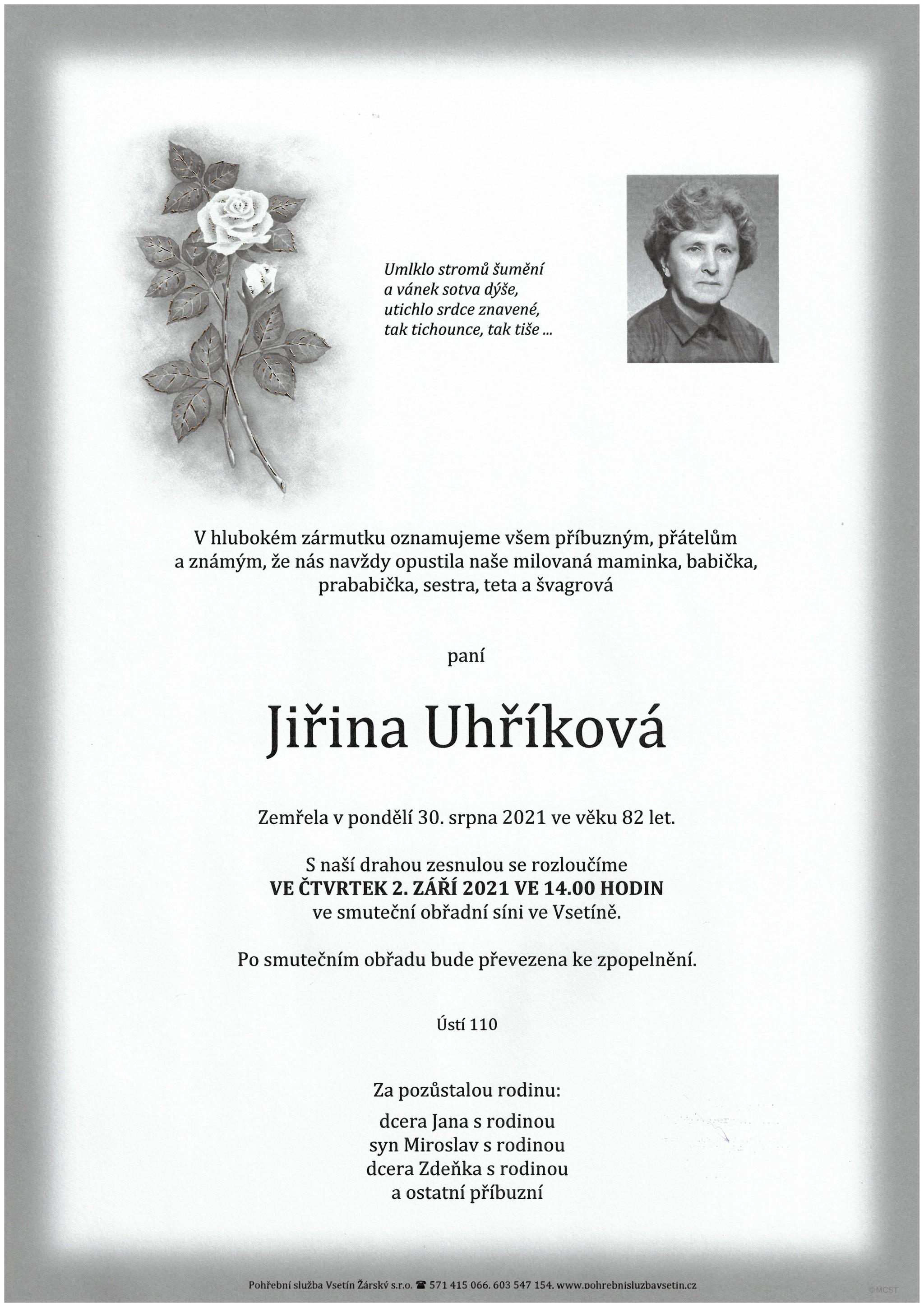 Jiřina Uhříková