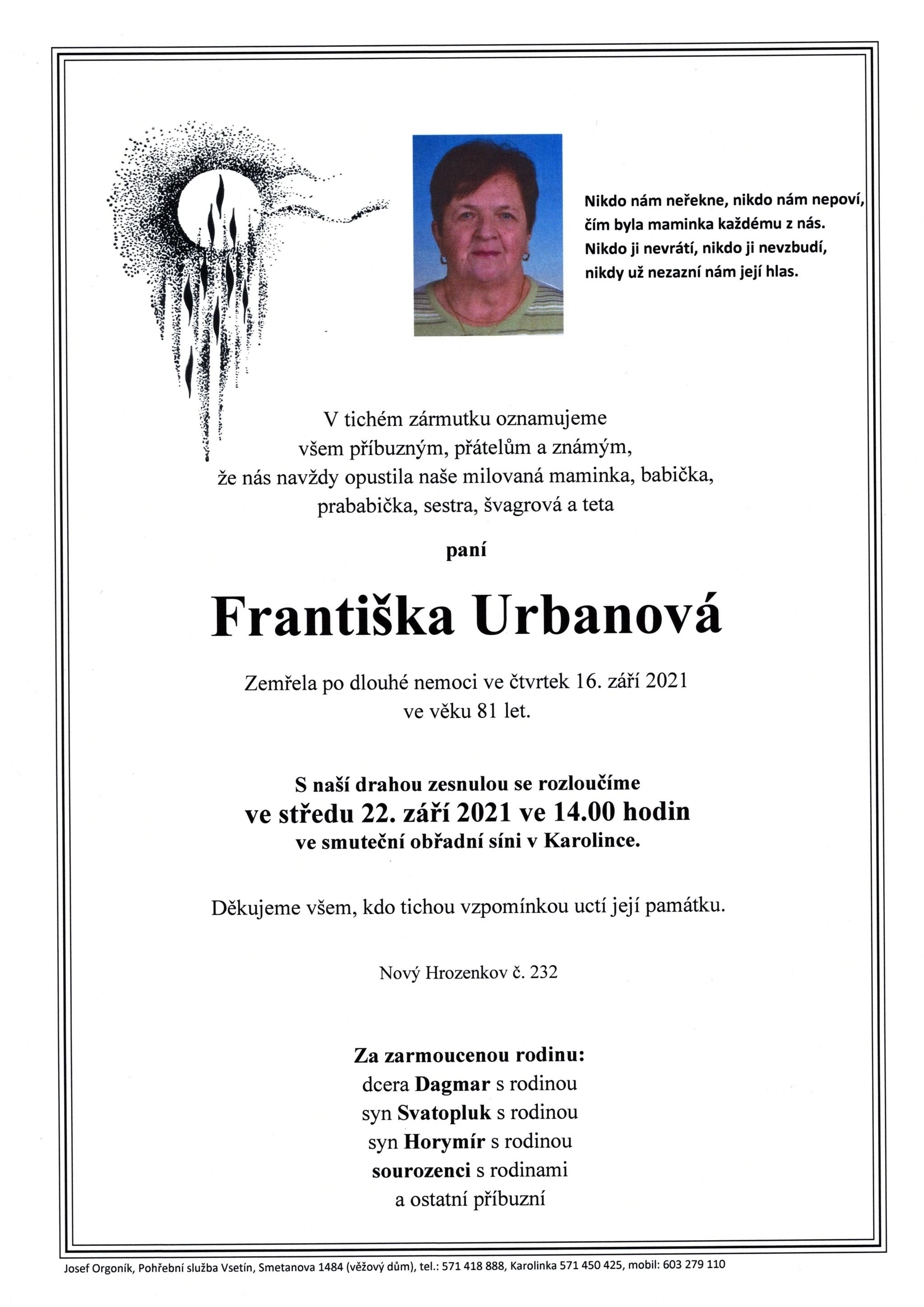 Františka Urbanová